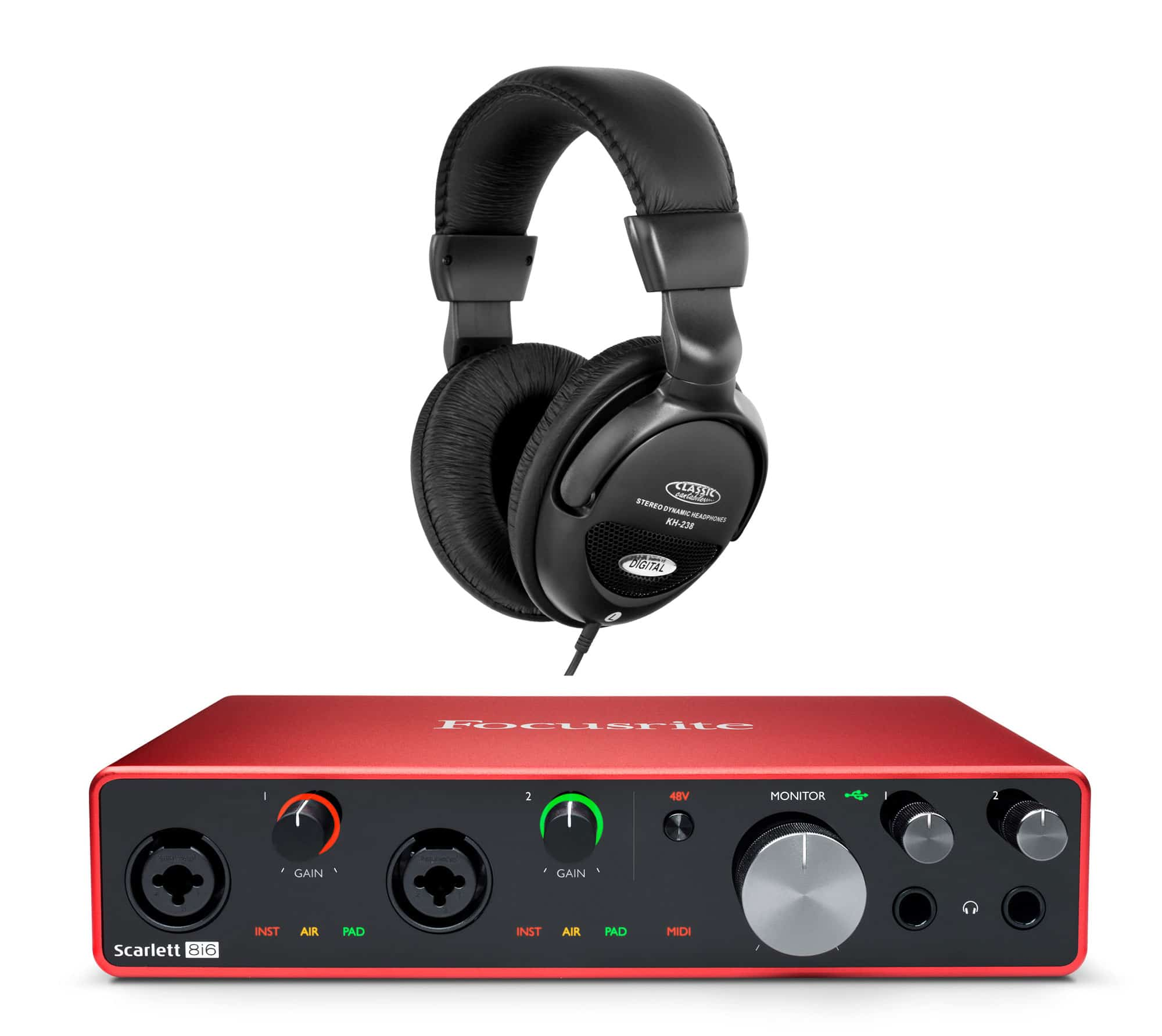 Pchardware - Focusrite Scarlett 8i6 USB Audio Interface Set - Onlineshop Musikhaus Kirstein