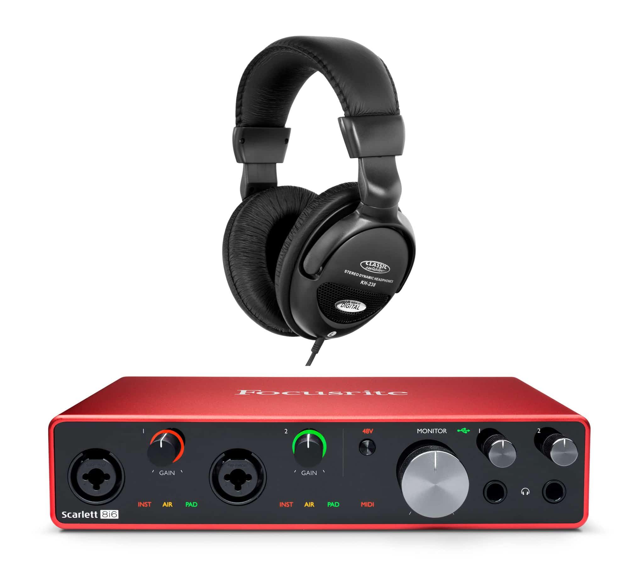 Pchardware - Focusrite Scarlett 8i6 USB Audio Interface Set - Onlineshop Musikhaus Kirstein