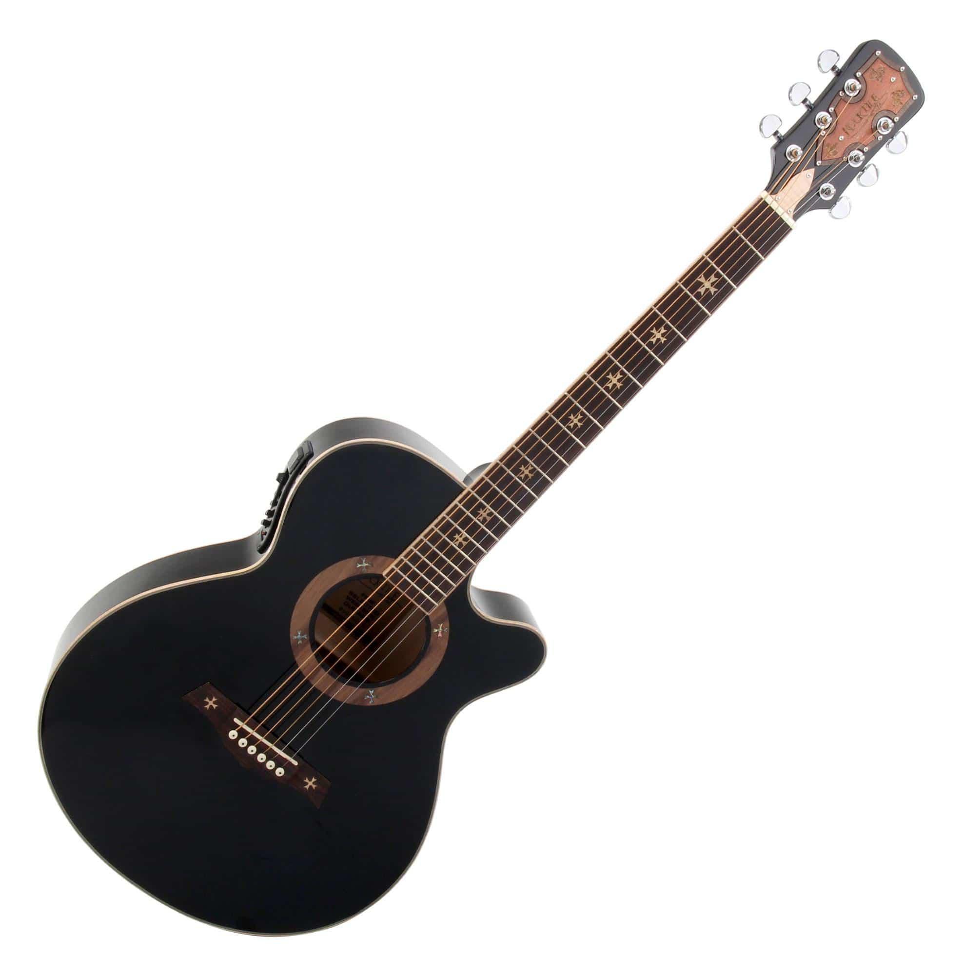 rocktile empire acoustic steel string guitar with pickup black. Black Bedroom Furniture Sets. Home Design Ideas