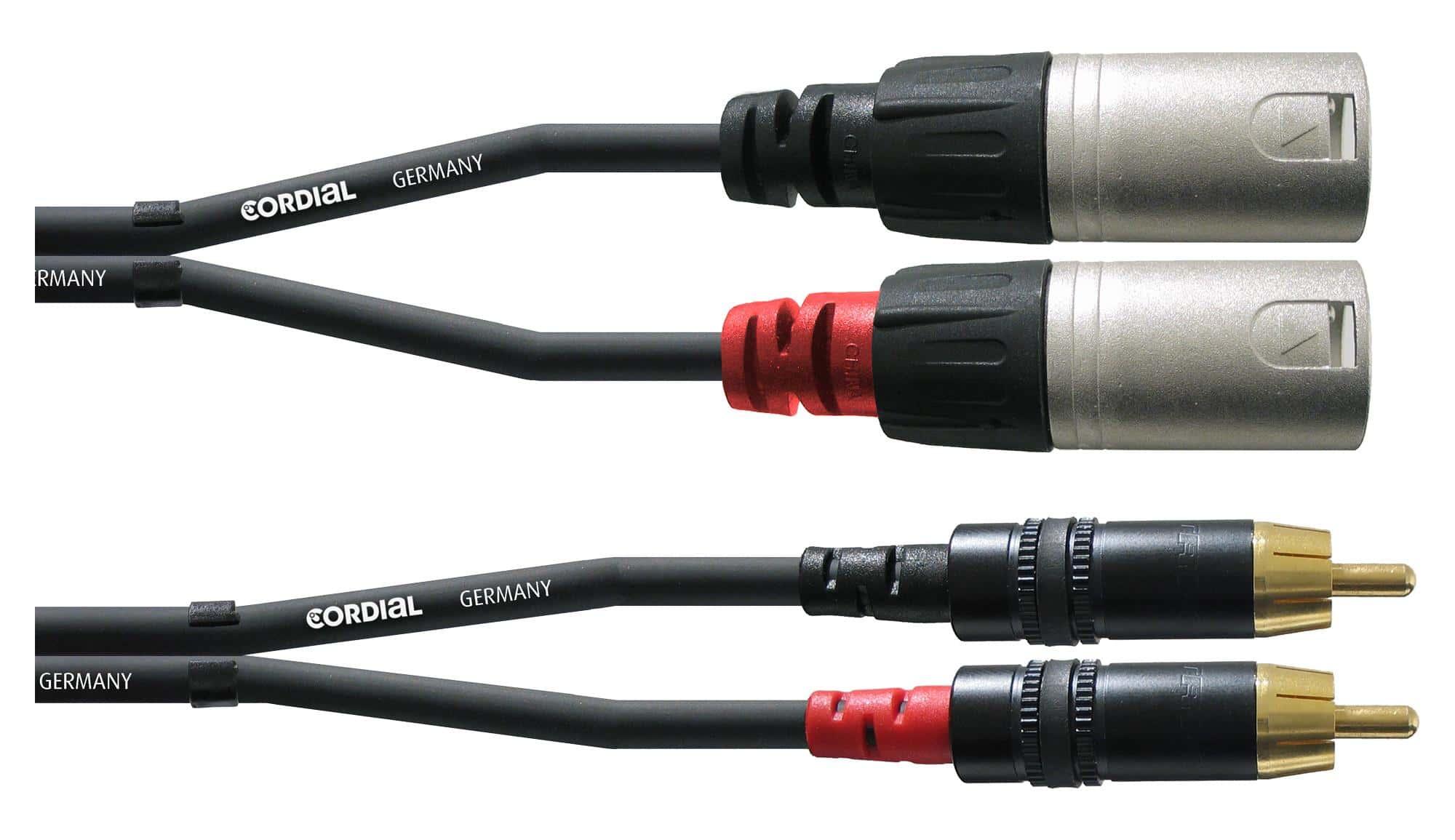 Cordial CFU 3 MC Cinch XLR male 3m Paar