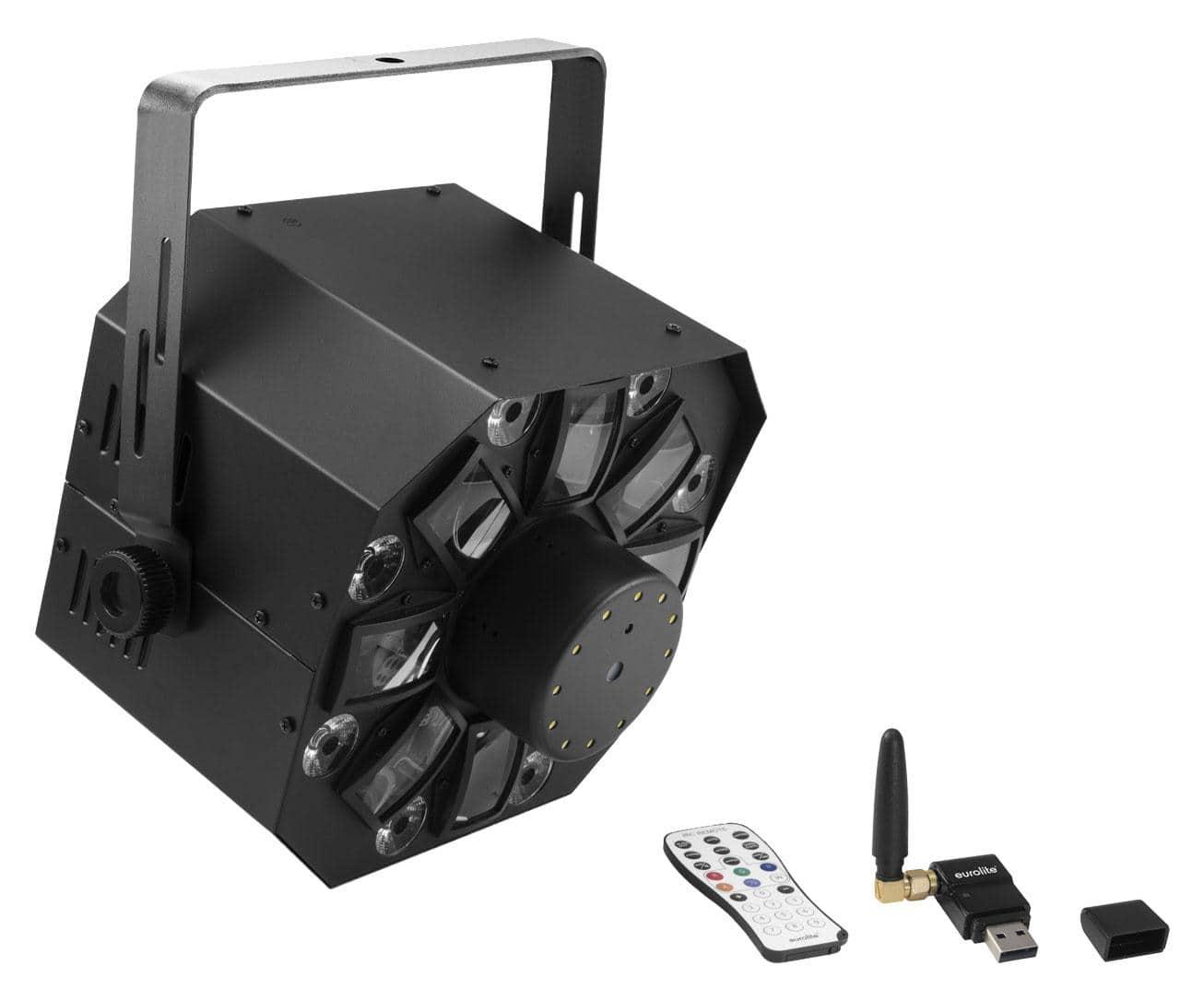 Lichtsets - Eurolite LED FE 1750 Hybrid Laserflower QuickDMX Set - Onlineshop Musikhaus Kirstein