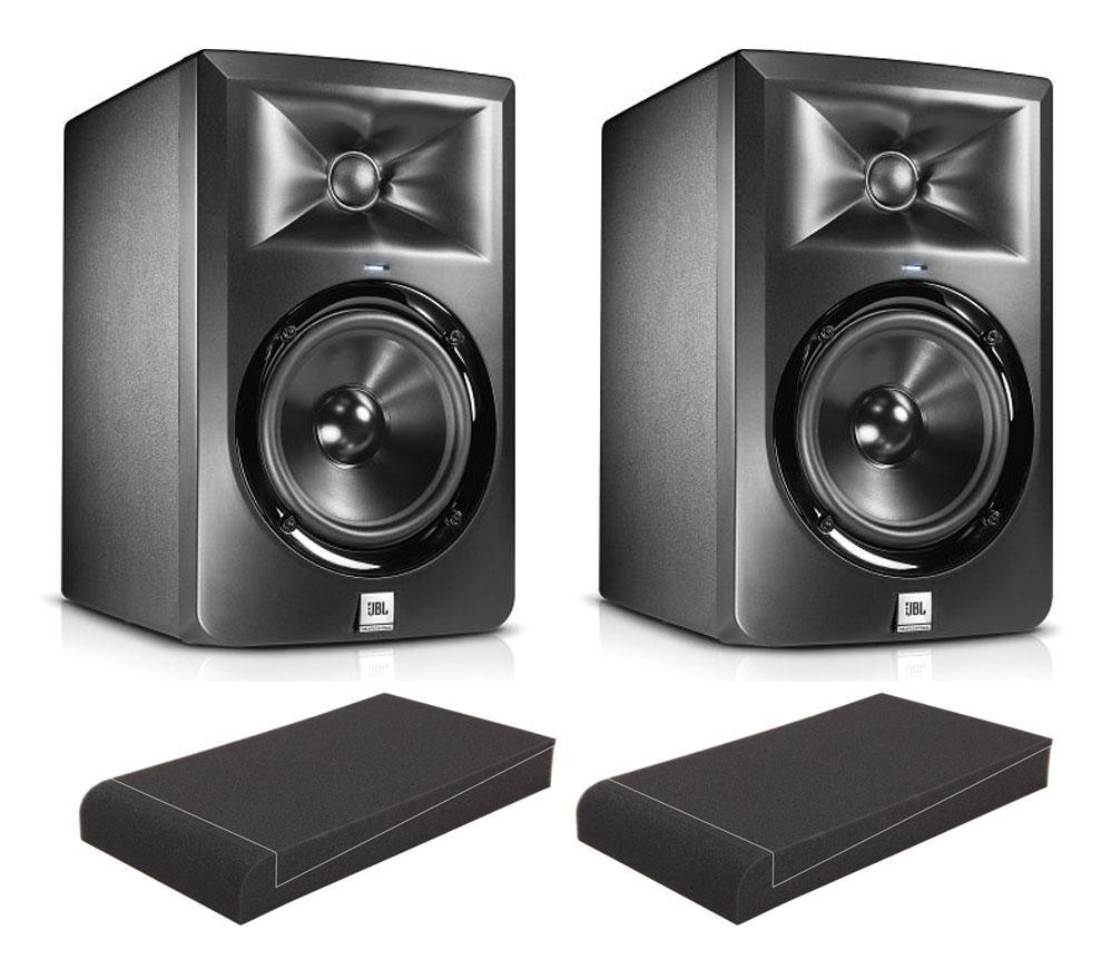 JBL LSR 305 (Paar) SET mit Pronomic ISO Stand 5' Absorberplatten