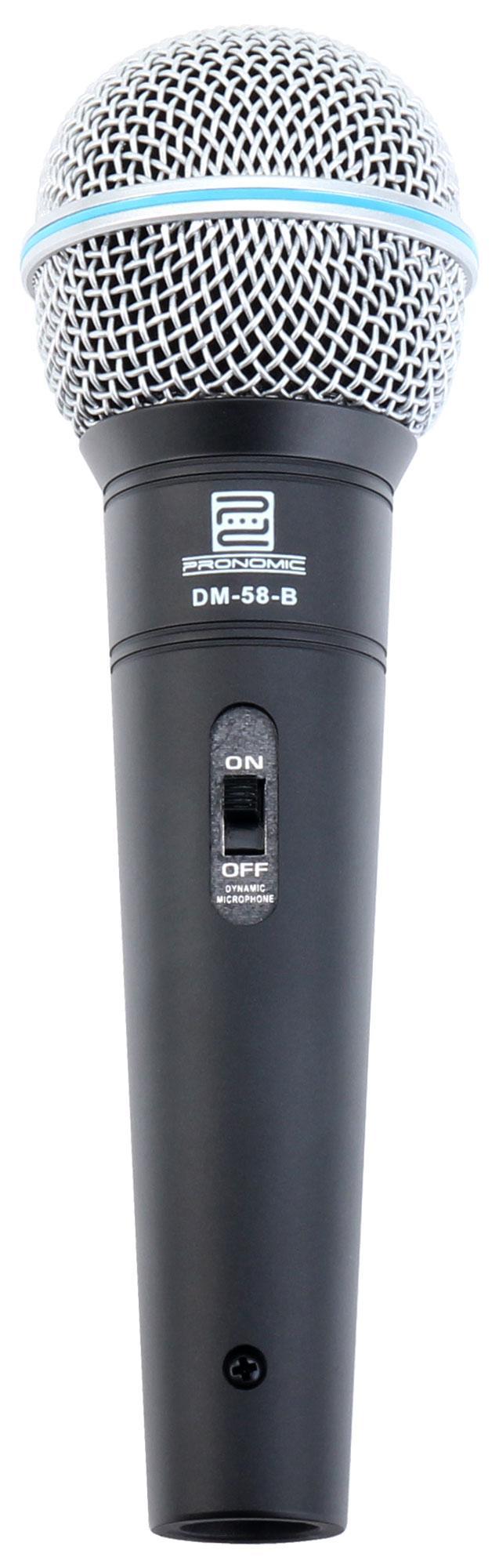 Pronomic DM 58 B Vocal Mikrofon mit Schalter Retoure (Zustand sehr gut)