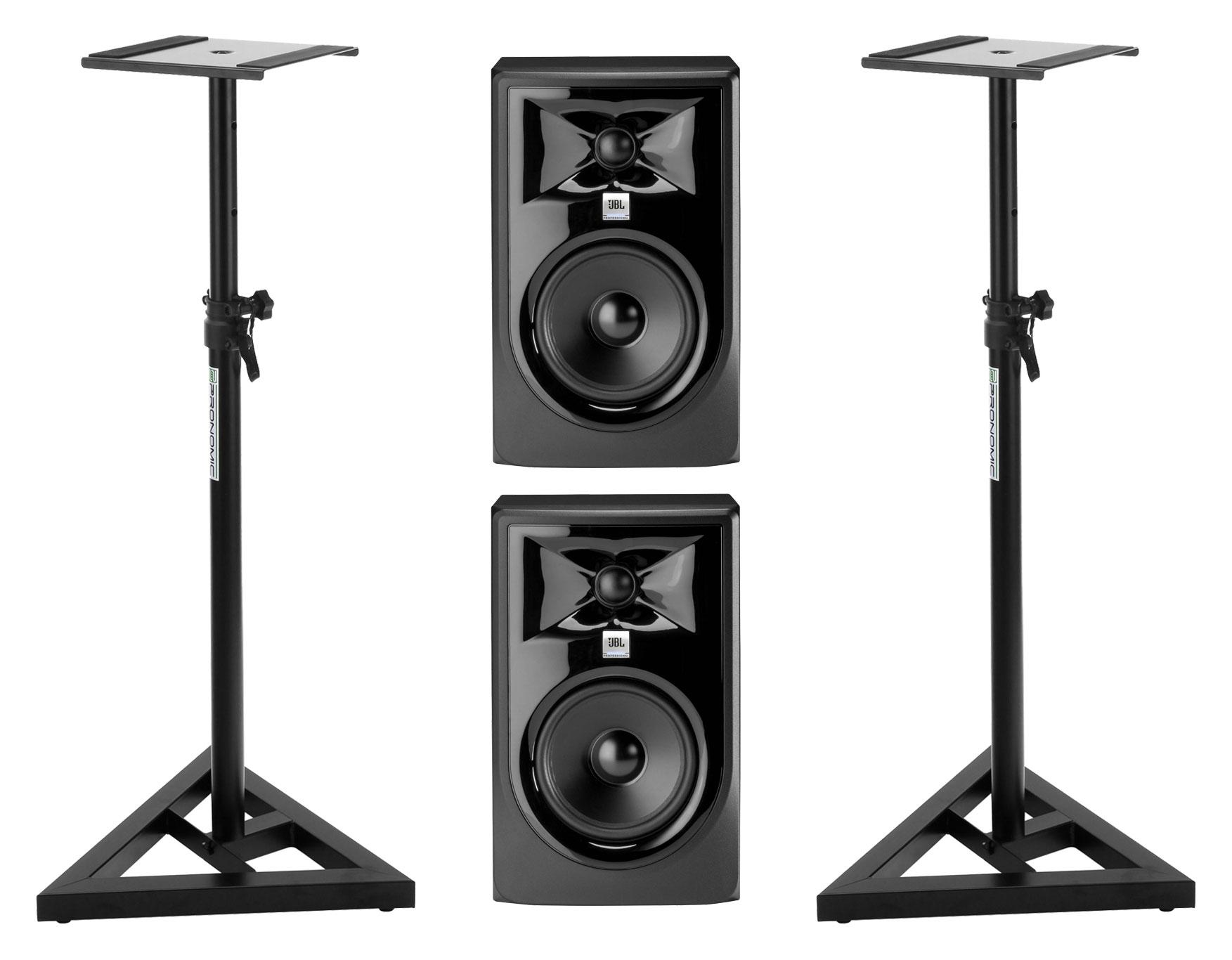 Studiomonitore - JBL 305P MKII Aktiv Studiomonitor Stativ Set - Onlineshop Musikhaus Kirstein