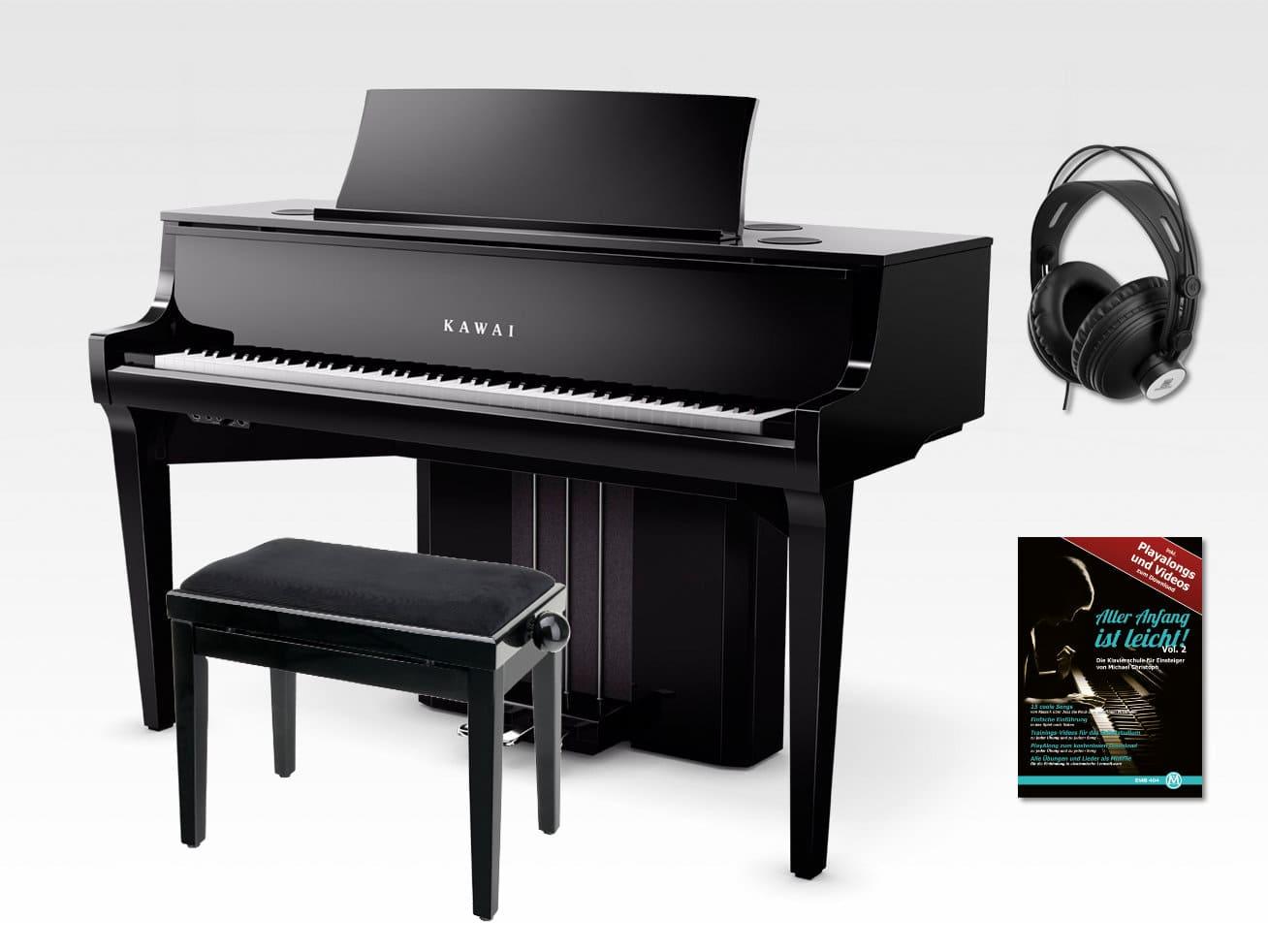 Kawai Novus NV10 Hybrid Digitalpiano Set inkl. Kopfhörer Schule