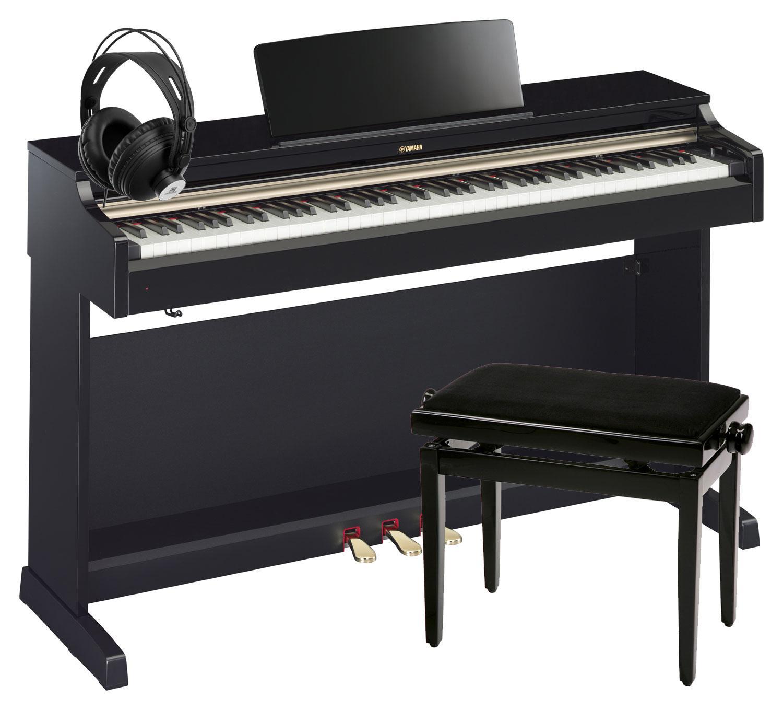 yamaha ydp 162 pe arius digitalpiano schwarz hochglanz set inkl bank kopfh rer kirstein music. Black Bedroom Furniture Sets. Home Design Ideas