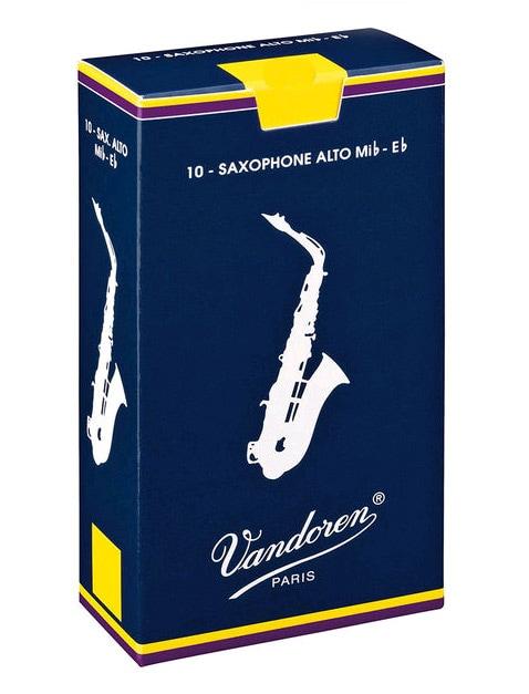Blaeserzubehoer - Vandoren Classic Blau Altsax Blätter (2,5) 10er Pack - Onlineshop Musikhaus Kirstein
