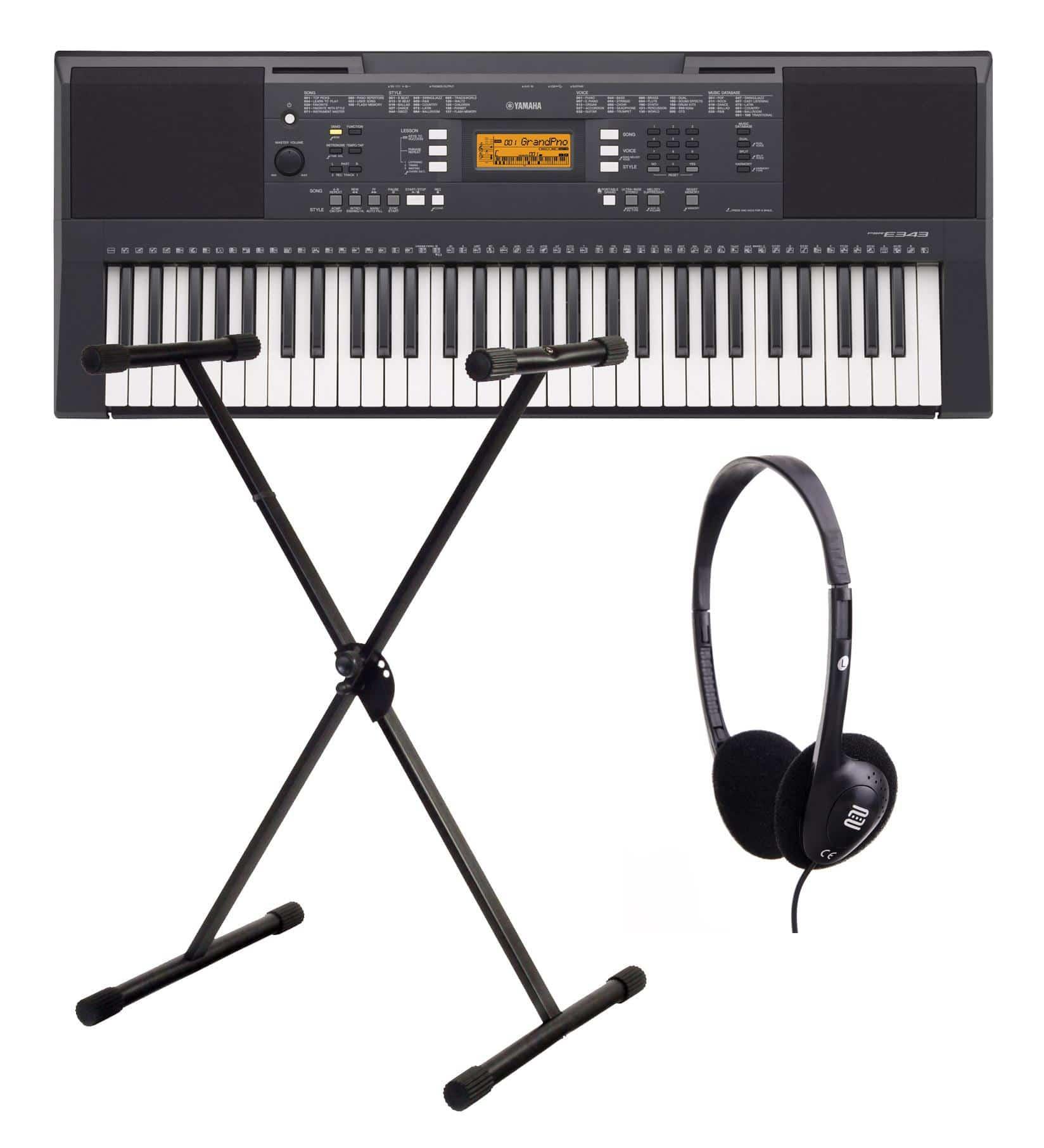 Yamaha PSR E343 Keyboard SET inkl. Ständer Kopfhörer