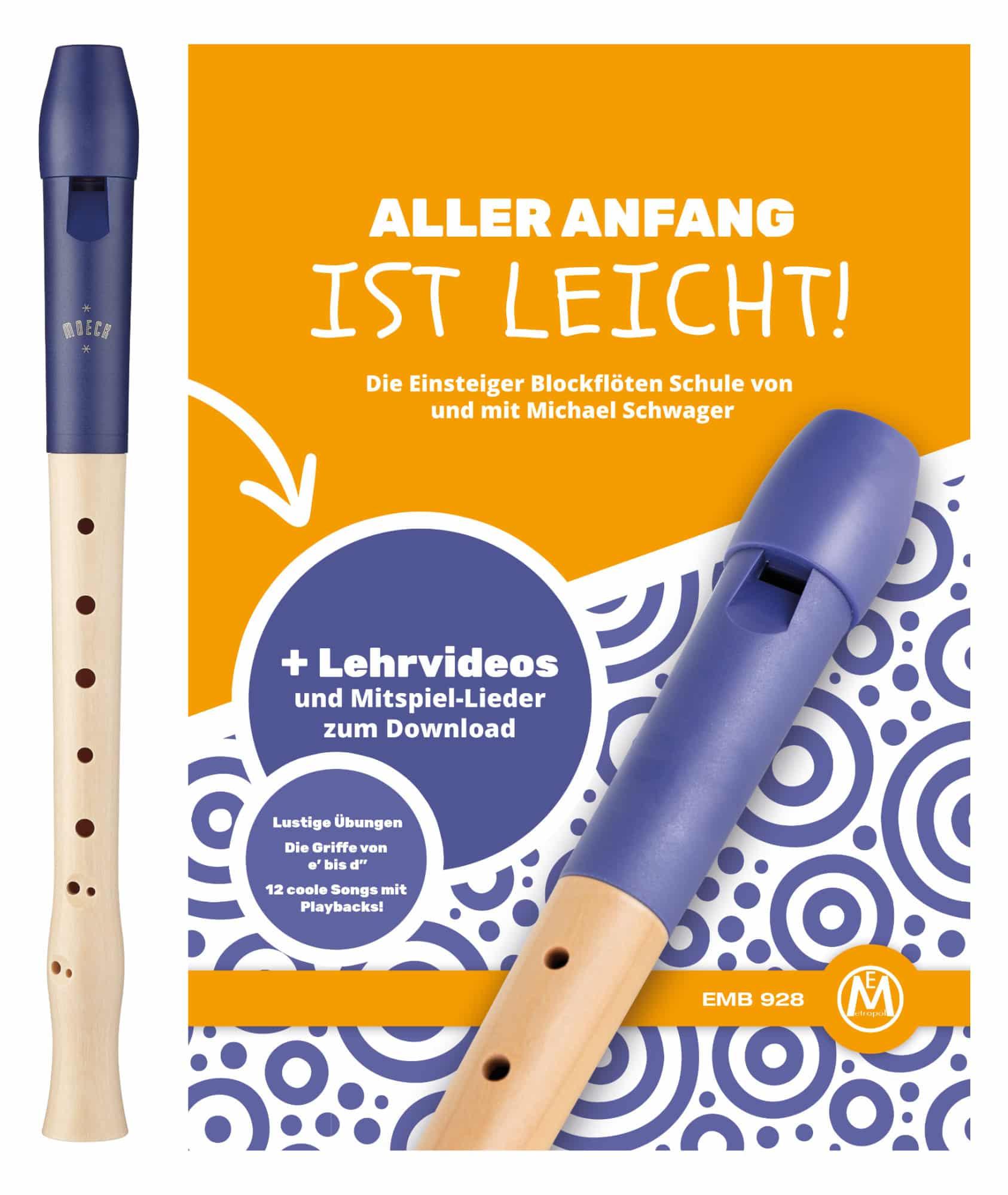 Sonstigeblasinstrumente - Moeck Blockflöte 1023 Flauto 1 Plus Barock inkl. Flötenschule - Onlineshop Musikhaus Kirstein