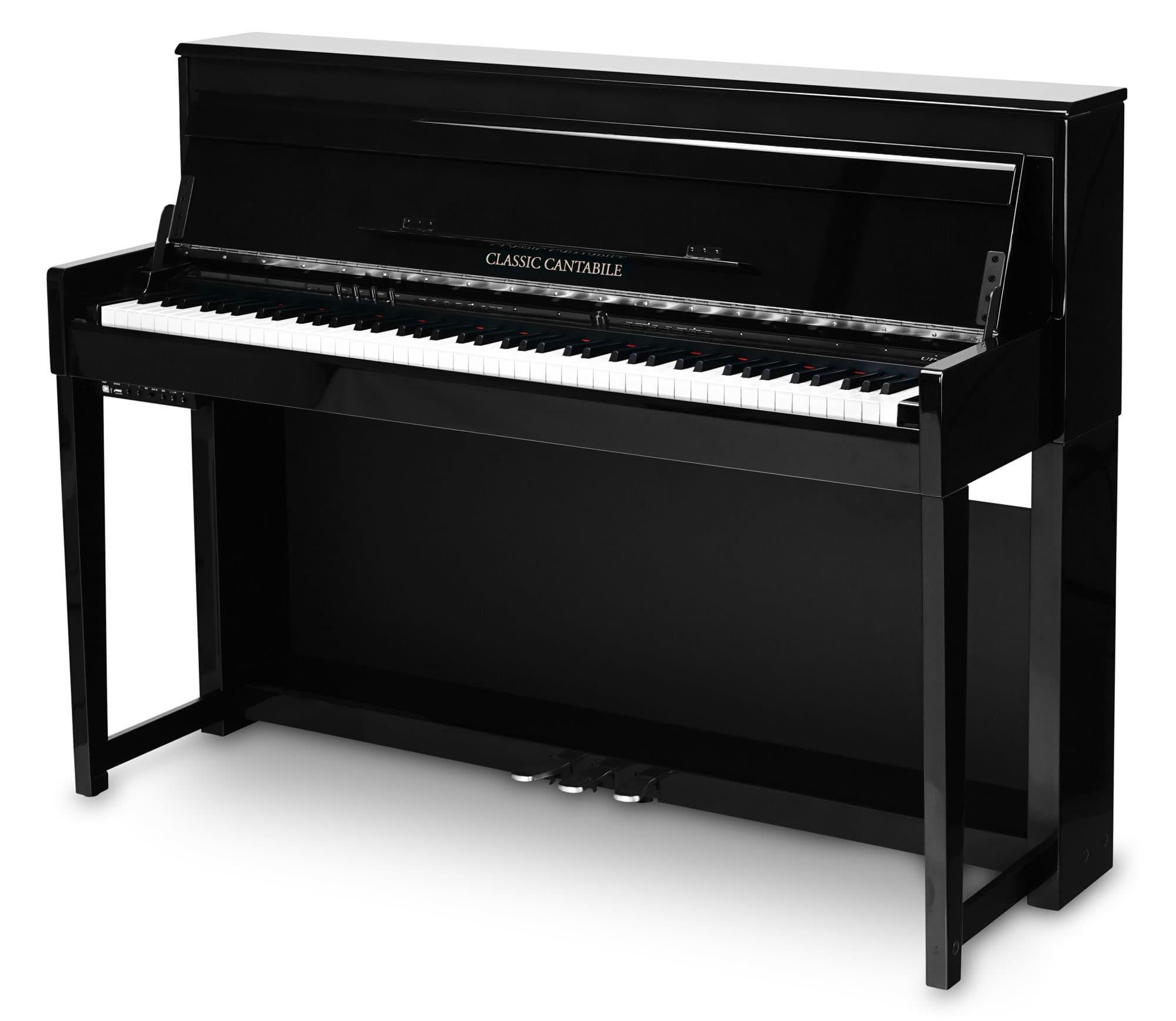 Digitalpianos - Classic Cantabile UP 1 SH Upright E Piano Schwarz hochglanz - Onlineshop Musikhaus Kirstein