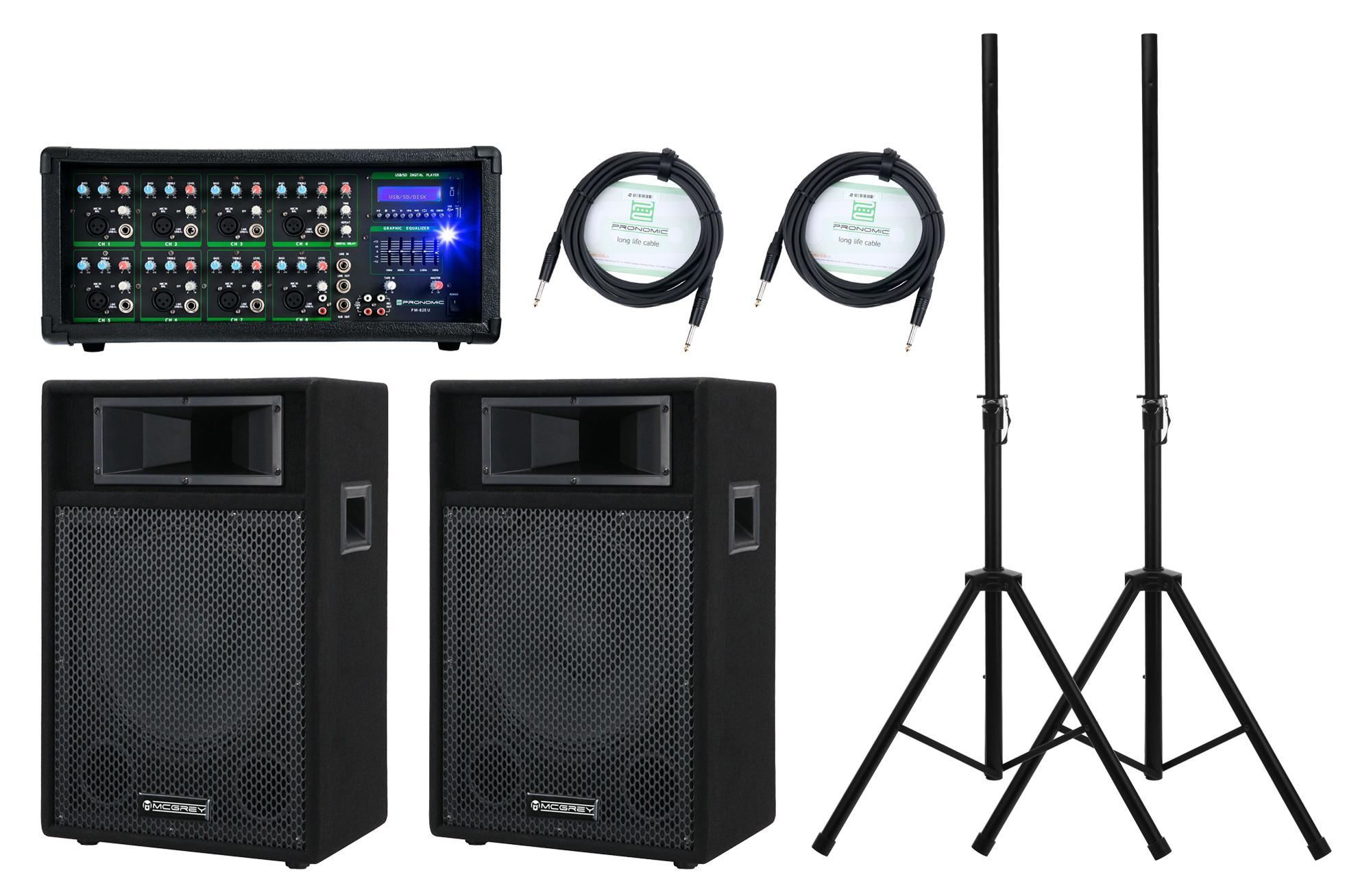 Pronomic PM82 112 StagePower PA Set