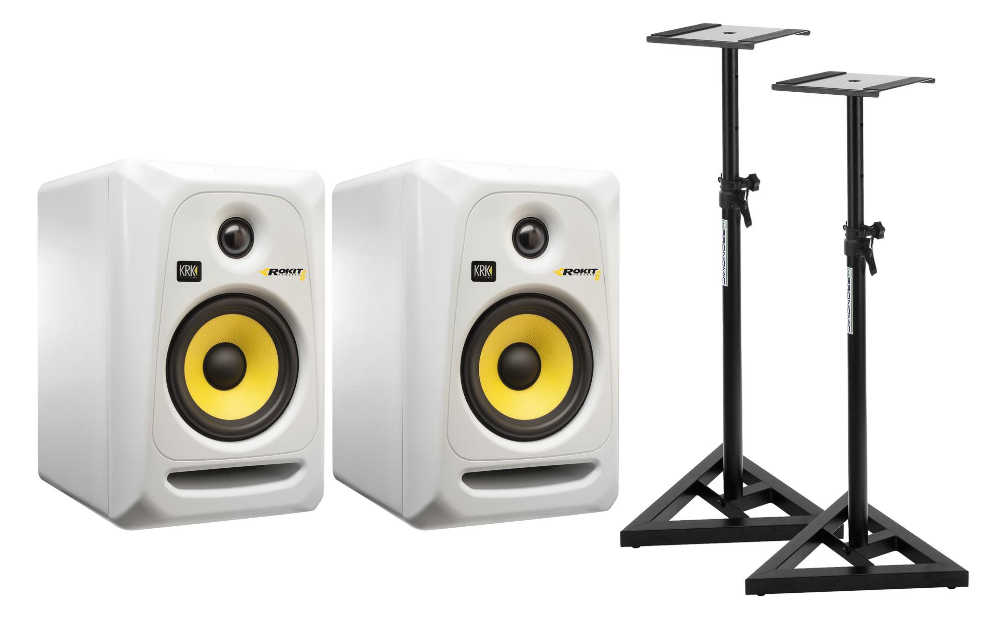 KRK RP6 ROKIT G3 SE Studio Monitor (Paar) SET mit Stativen