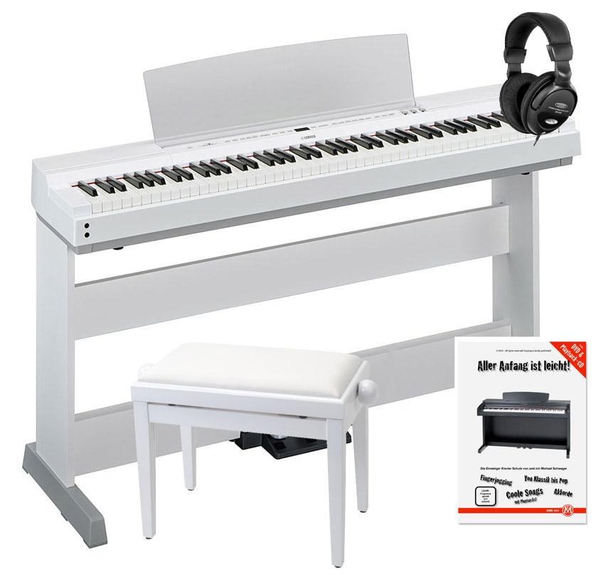 Yamaha P 255WH Stagepiano weiß Home Set L 255WH, LP 255WH Pedall, Bank, Kopfhörer und Schule