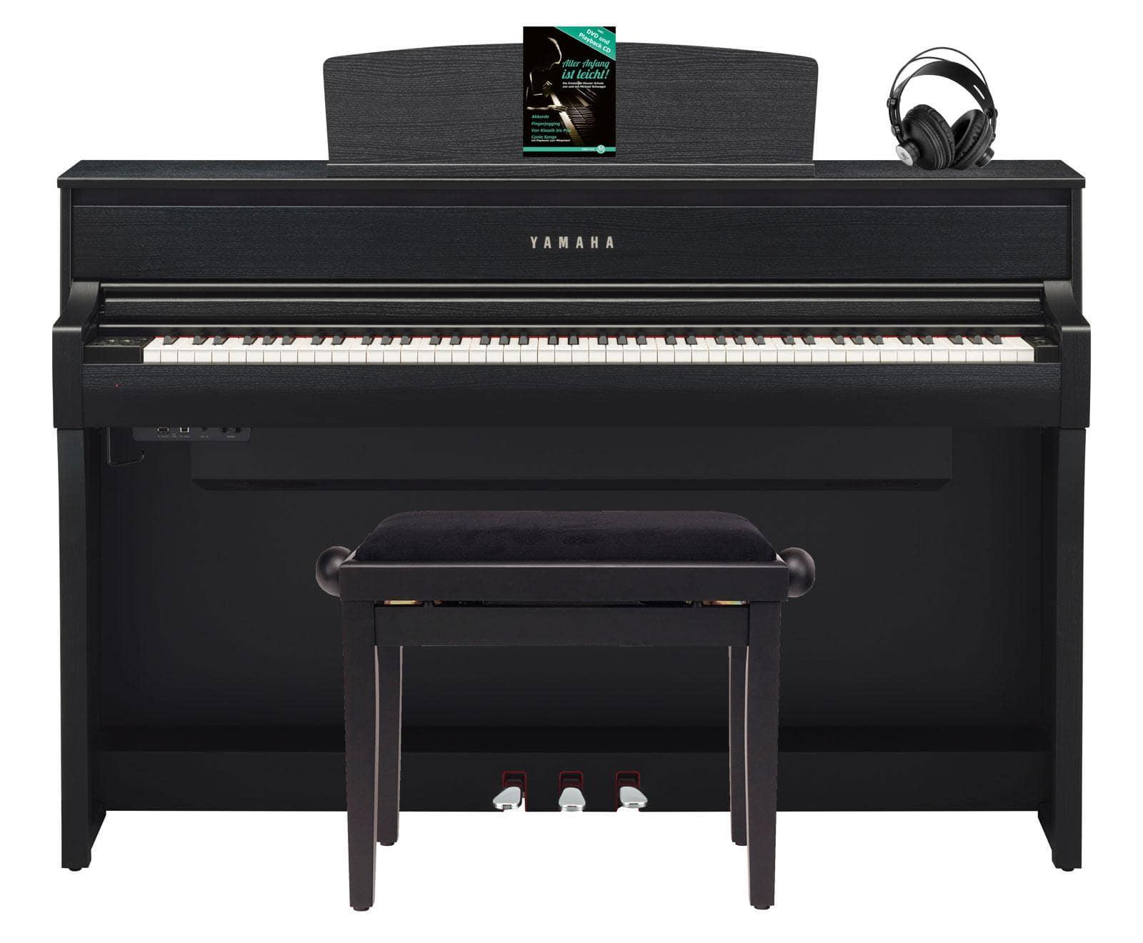 Yamaha clp 675 b digitalpiano schwarznuss set mit for Yamaha clp 675
