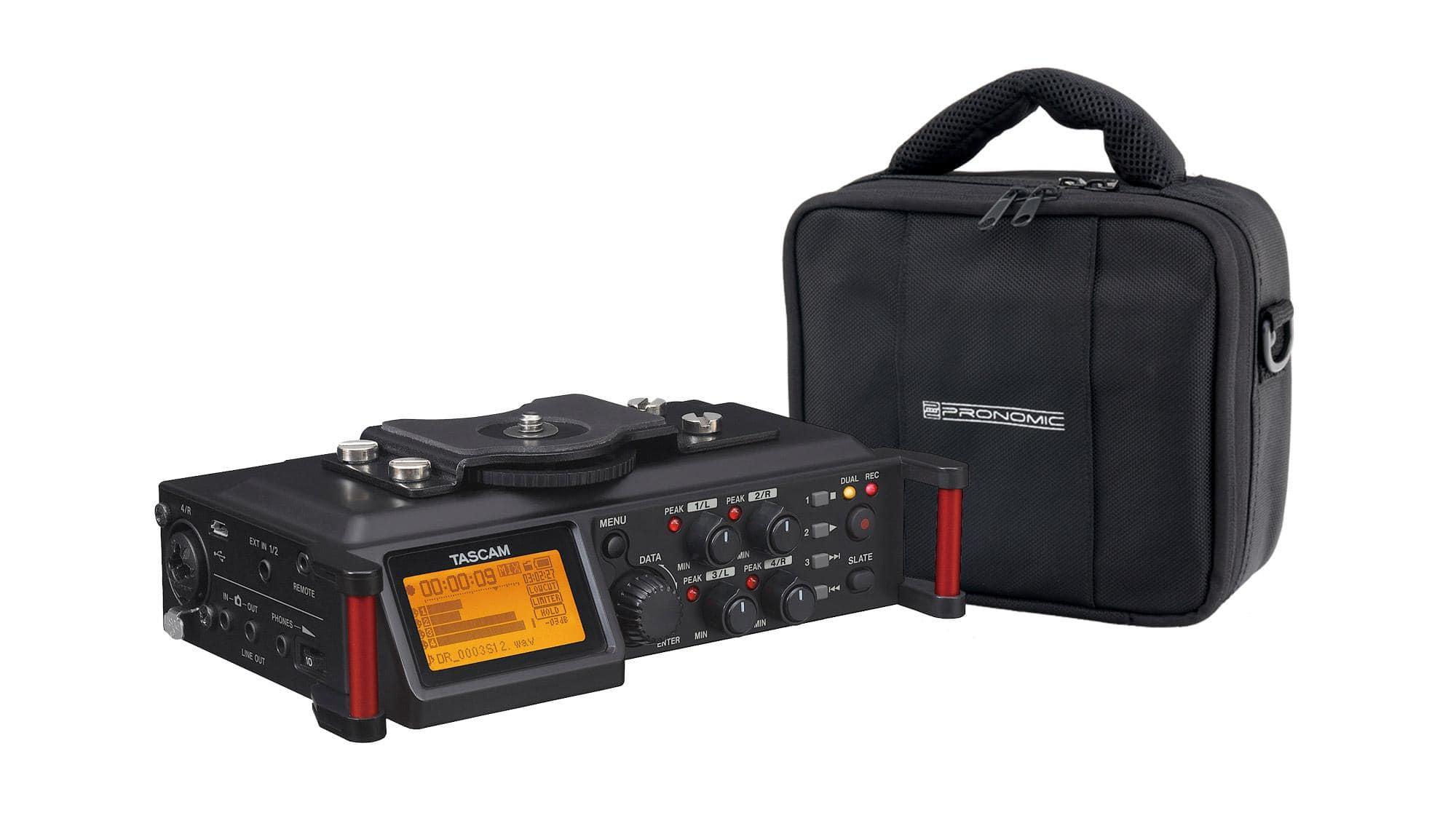 Recording - Tascam DR 70D Digitalrecorder Set inkl. Tasche - Onlineshop Musikhaus Kirstein