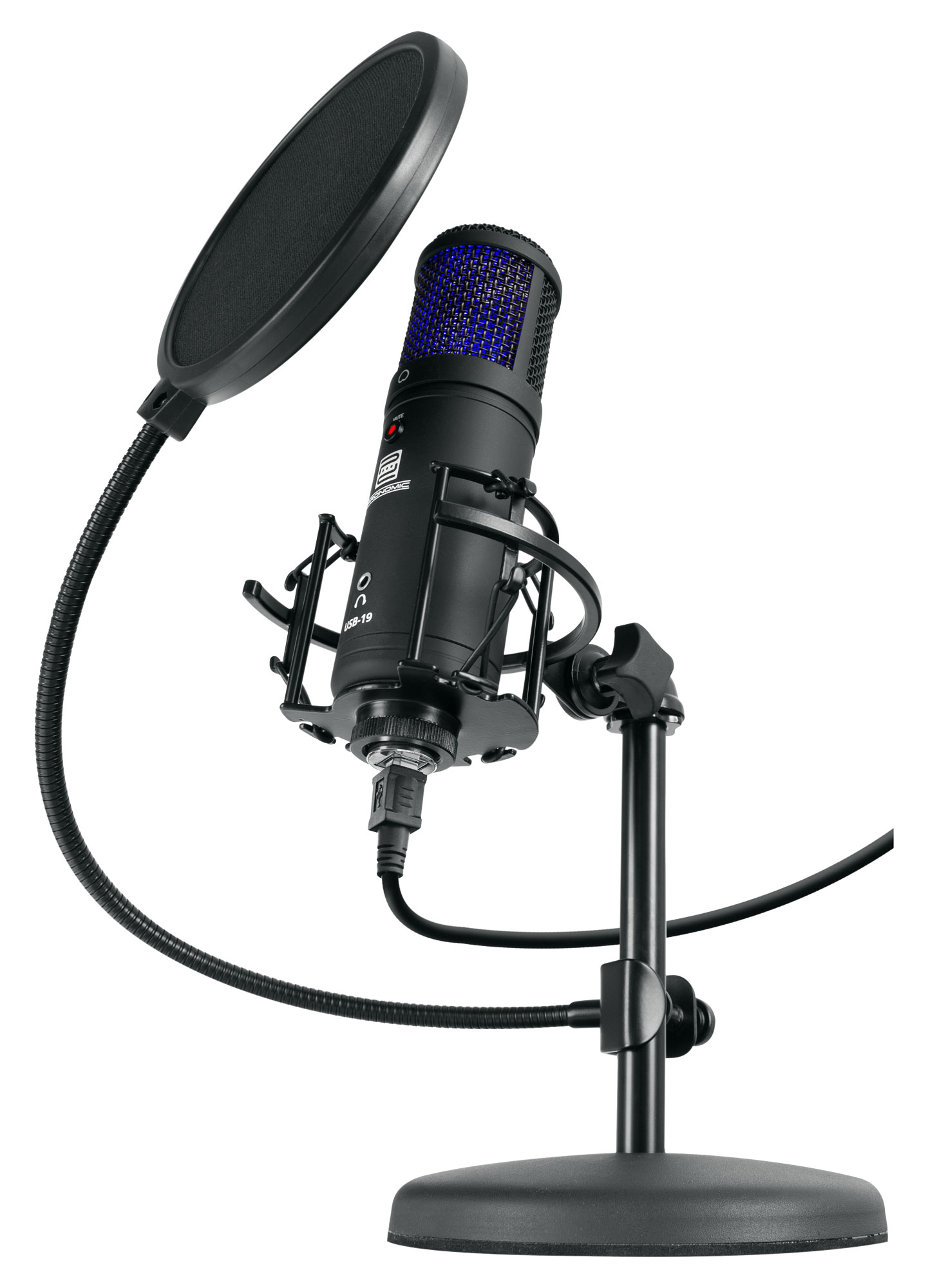 Mikrofone - Pronomic USB 19 Kondensatormikrofon Set - Onlineshop Musikhaus Kirstein