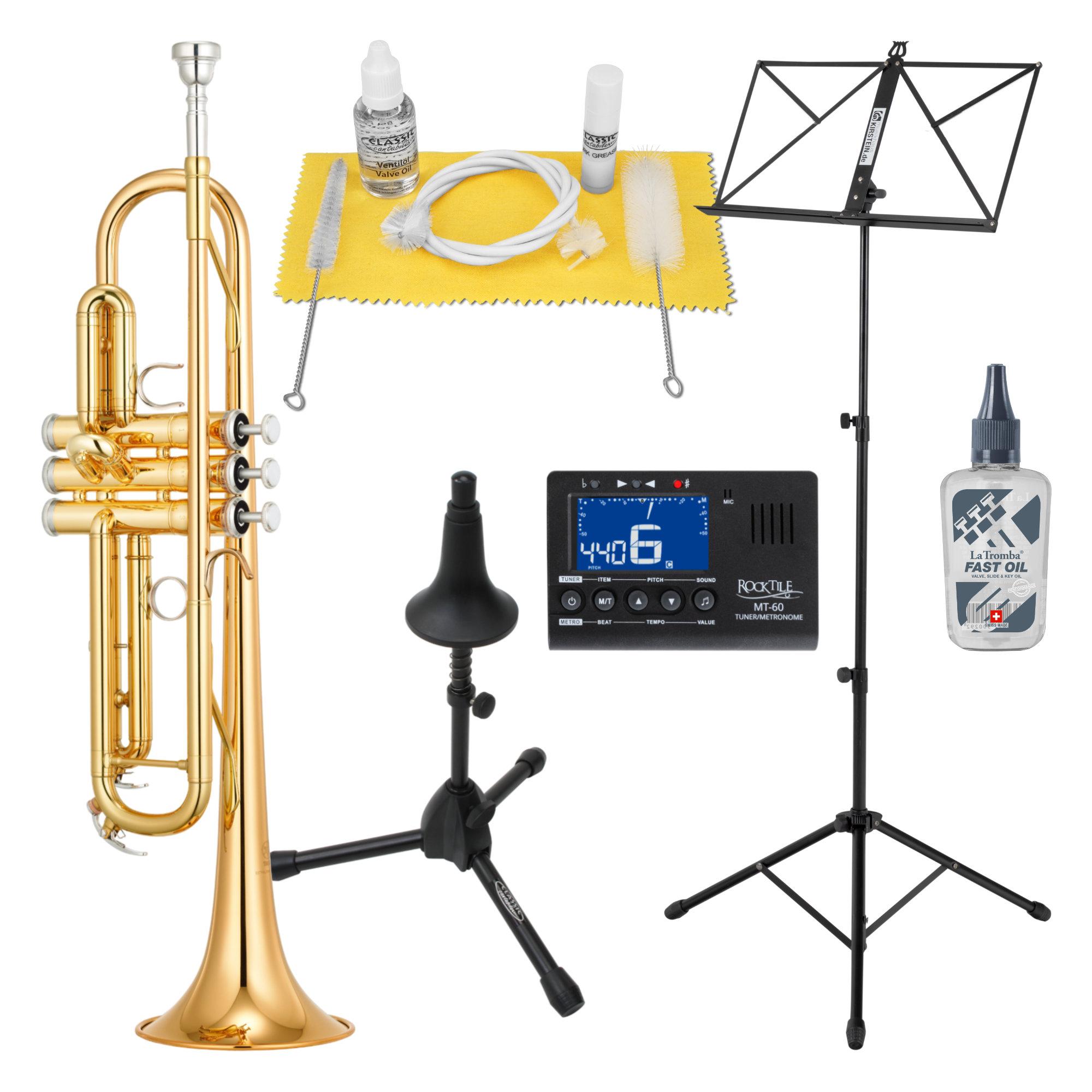 Yamaha YTR 4335 GII Bb Trompete SET inkl. Ständer Metronom Notenständer Reinigungsset