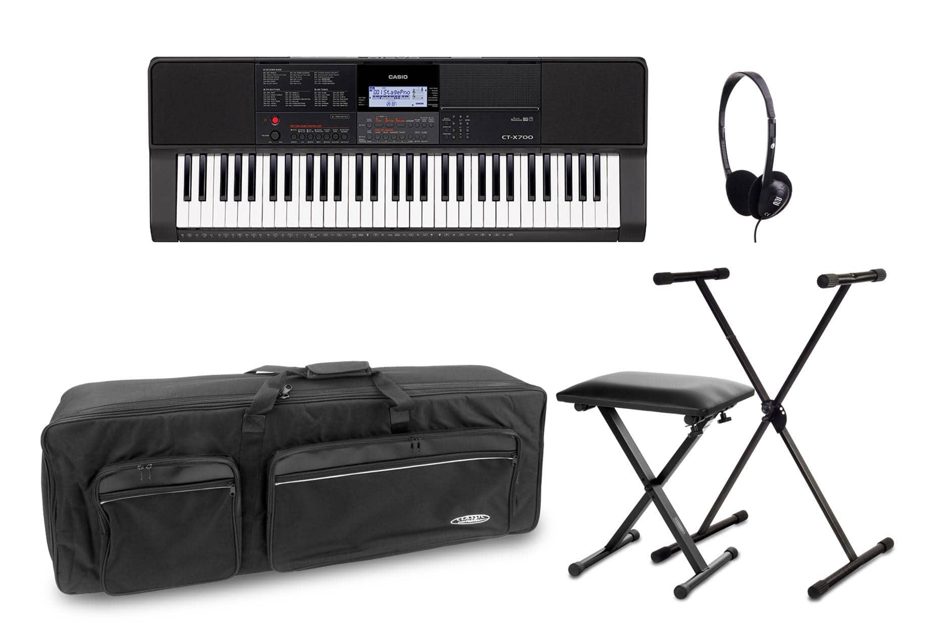 Homekeyboards - Casio CT X700 Keyboard Set inkl. Keyboardständer, Kopfhörer, Bank Tasche - Onlineshop Musikhaus Kirstein