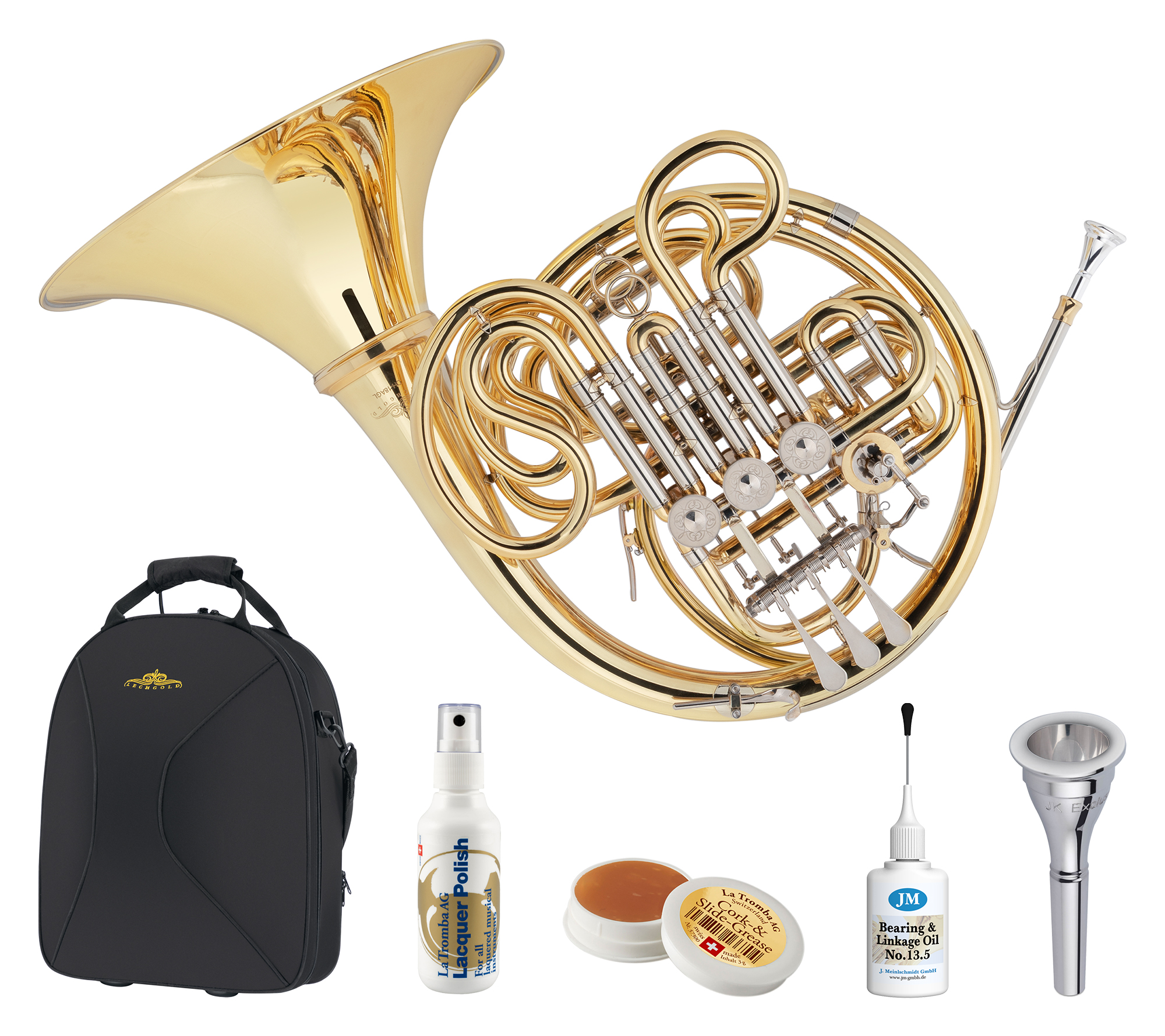 Hoerner - Lechgold DH 18AGL Doppelhorn Deluxe Set - Onlineshop Musikhaus Kirstein