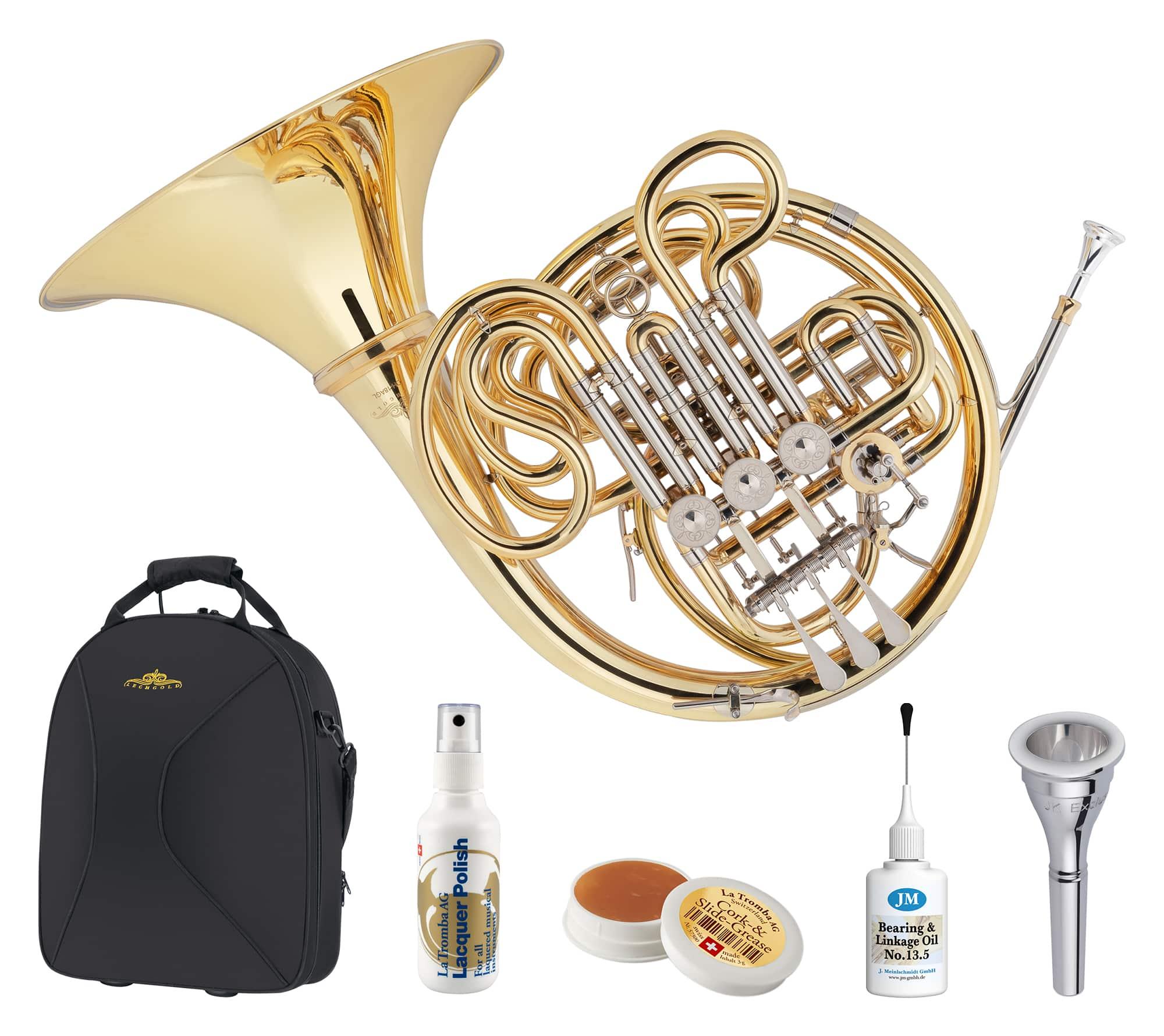 Hoerner - Lechgold DH 18AGL Doppelhorn Deluxe Set - Onlineshop Musikhaus Kirstein