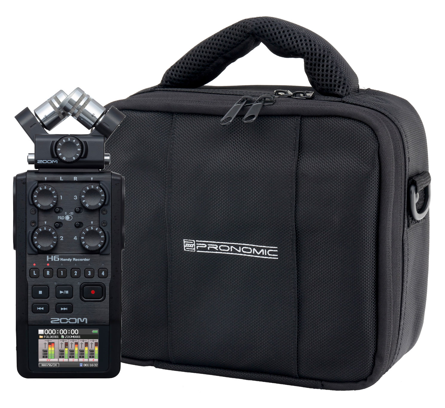 Recording - Zoom H6 Black Recorder Set inkl. Tasche - Onlineshop Musikhaus Kirstein