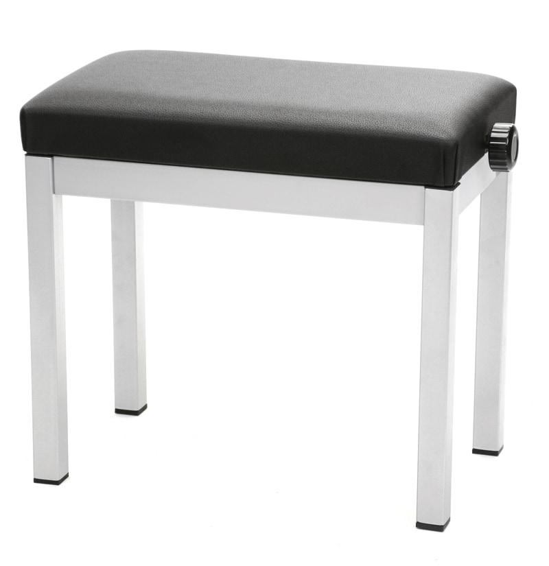 GVI Klavierbank Stahl Silber|Schwarz