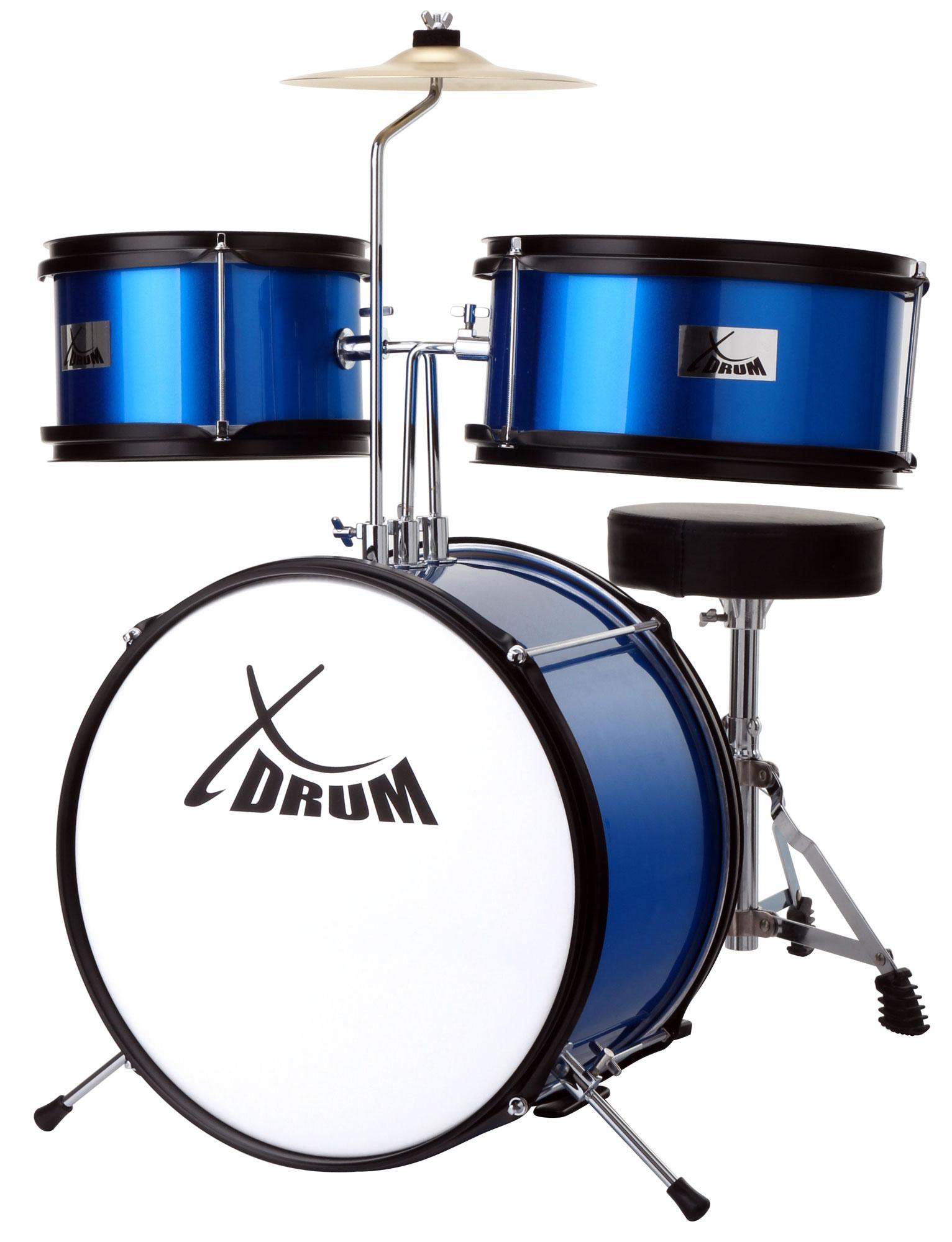 Akustikdrums - XDrum Junior KIDS Schlagzeug inkl. DVD blau Retoure (Zustand sehr gut) - Onlineshop Musikhaus Kirstein