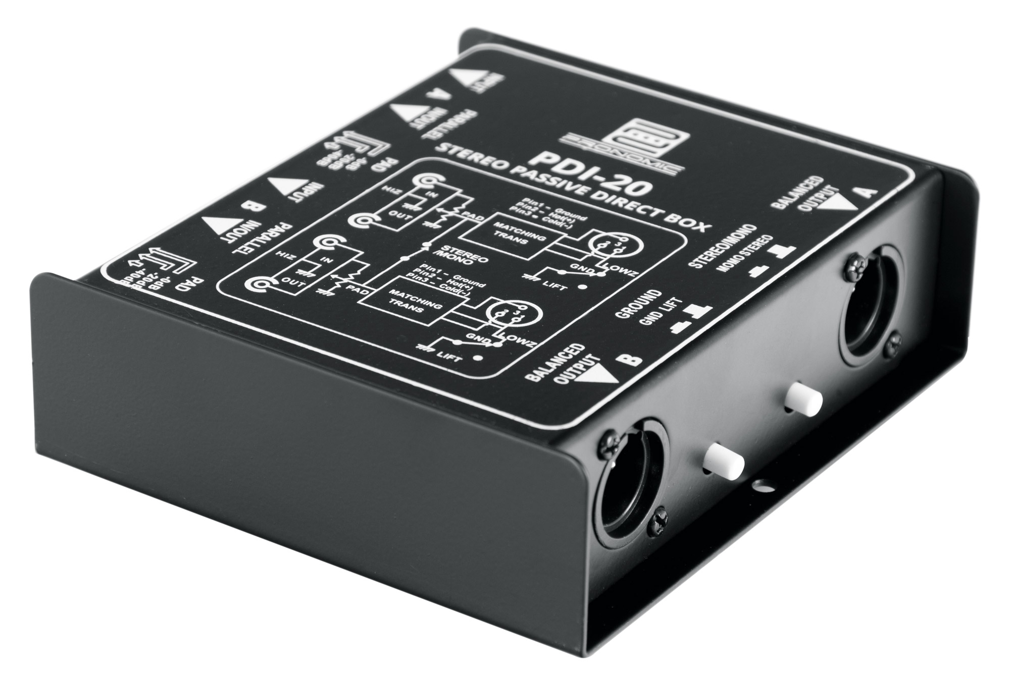 Pronomic PDI 20 passive Stereo DI Box