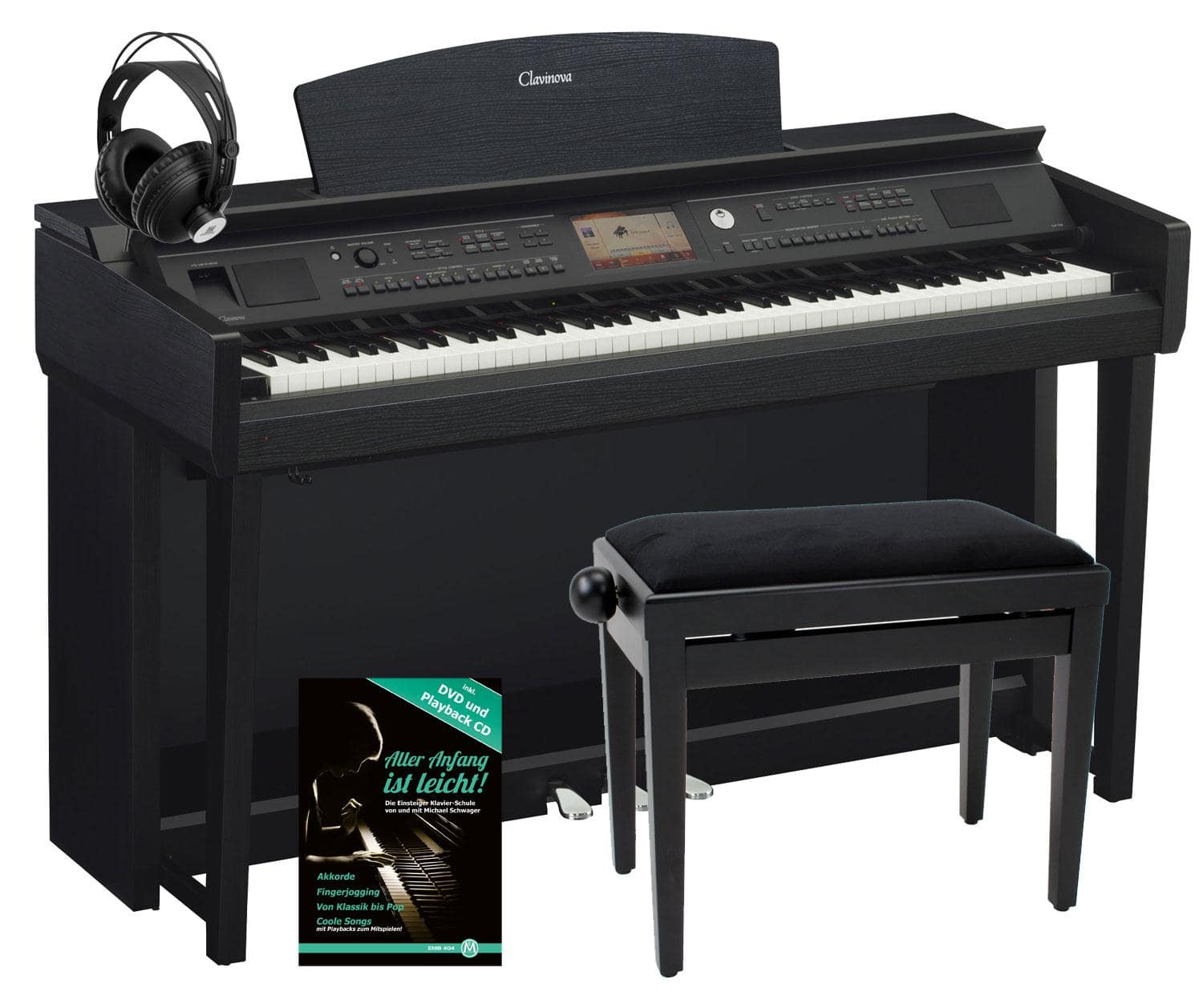yamaha cvp 705 b clavinova digitalpiano schwarz matt set. Black Bedroom Furniture Sets. Home Design Ideas