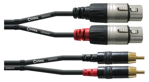 Kabelmulticores - Cordial CFU 1,5 FC Cinch XLR weiblich 1,5m Paar - Onlineshop Musikhaus Kirstein