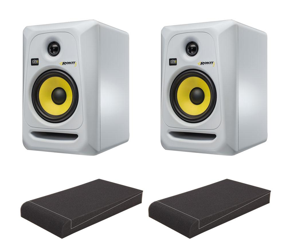 KRK ROKIT RP5 G3 SE Studio Monitor SET mit Pronomic ISO Stand 5' Absorberplatten
