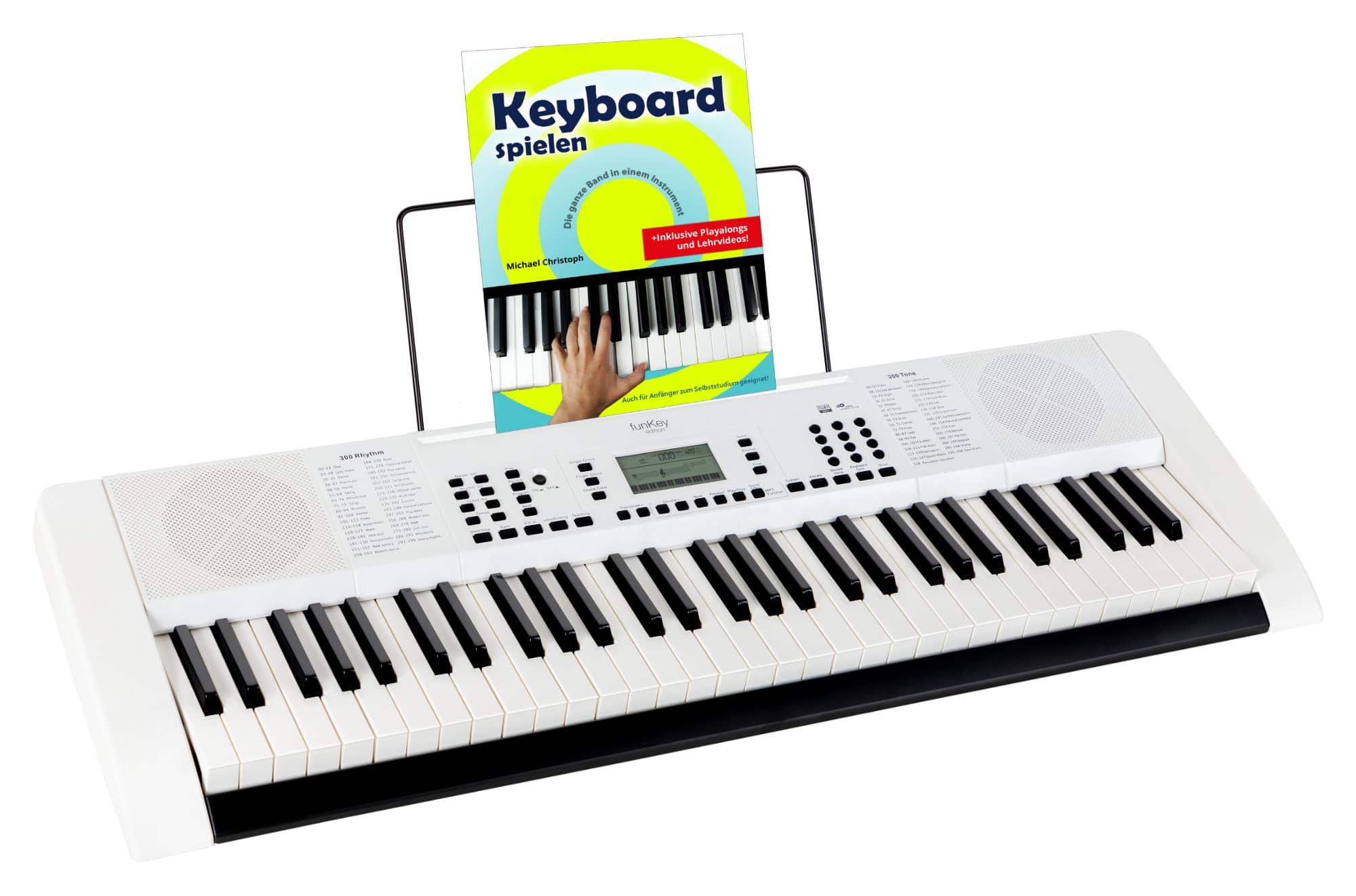 Homekeyboards - FunKey 61 Edition Pro Weiß Set inkl. Schule - Onlineshop Musikhaus Kirstein