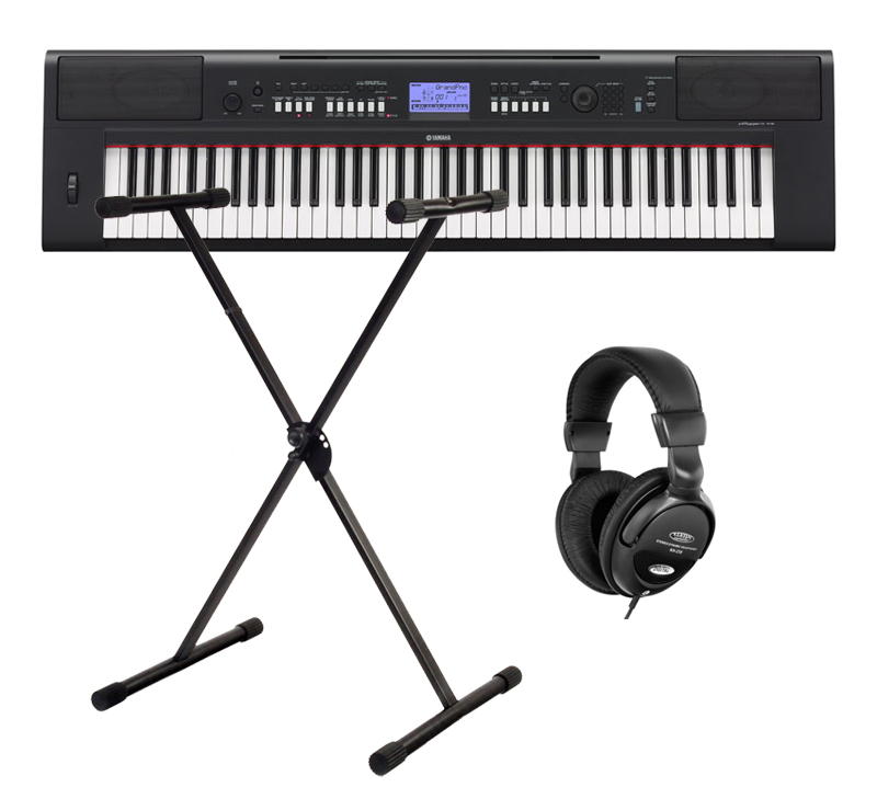 yamaha np v60 portable piano set inkl st nder kopfh rer. Black Bedroom Furniture Sets. Home Design Ideas