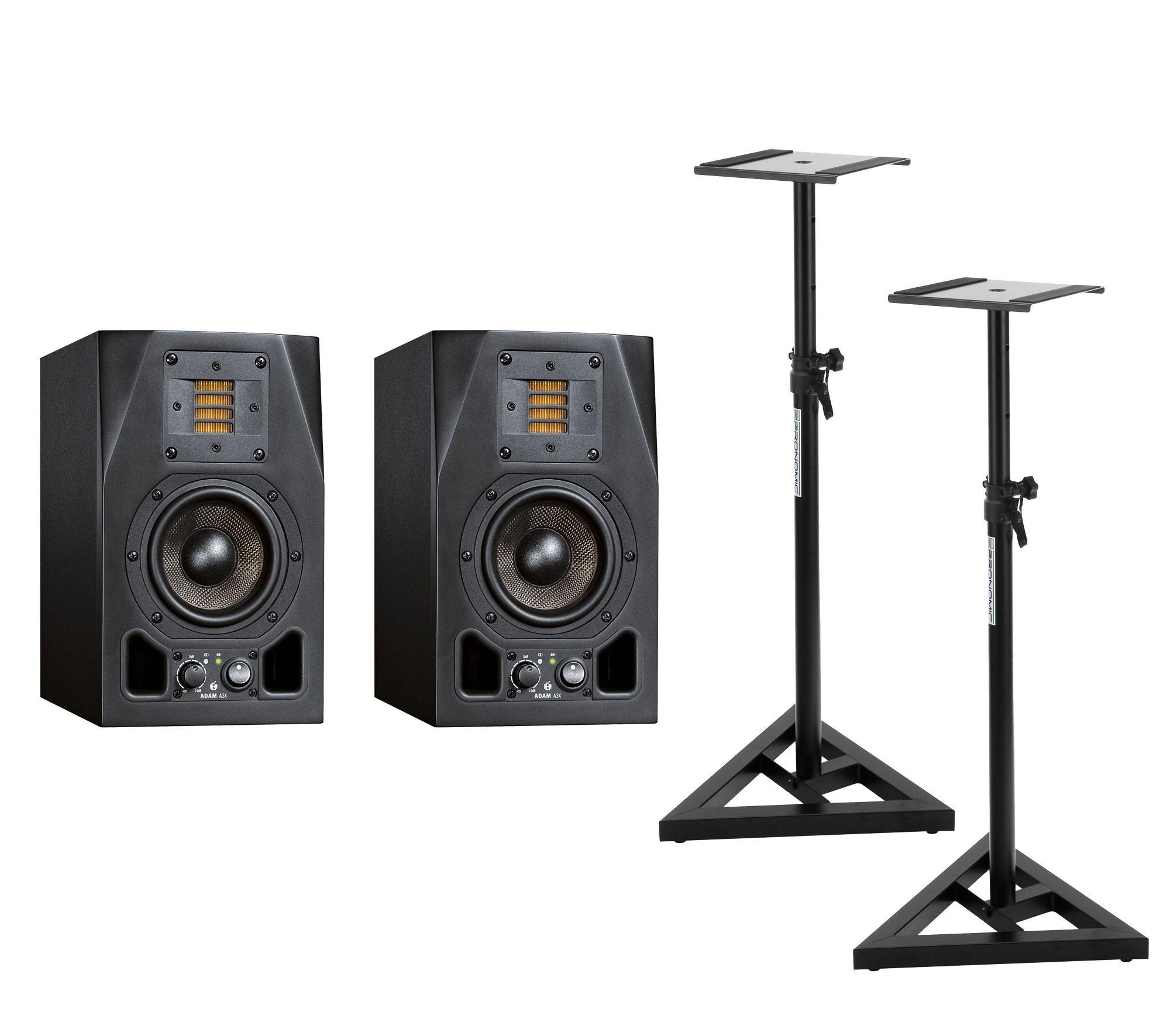 Studiomonitore - Adam Audio A3X Stativ Bundle - Onlineshop Musikhaus Kirstein