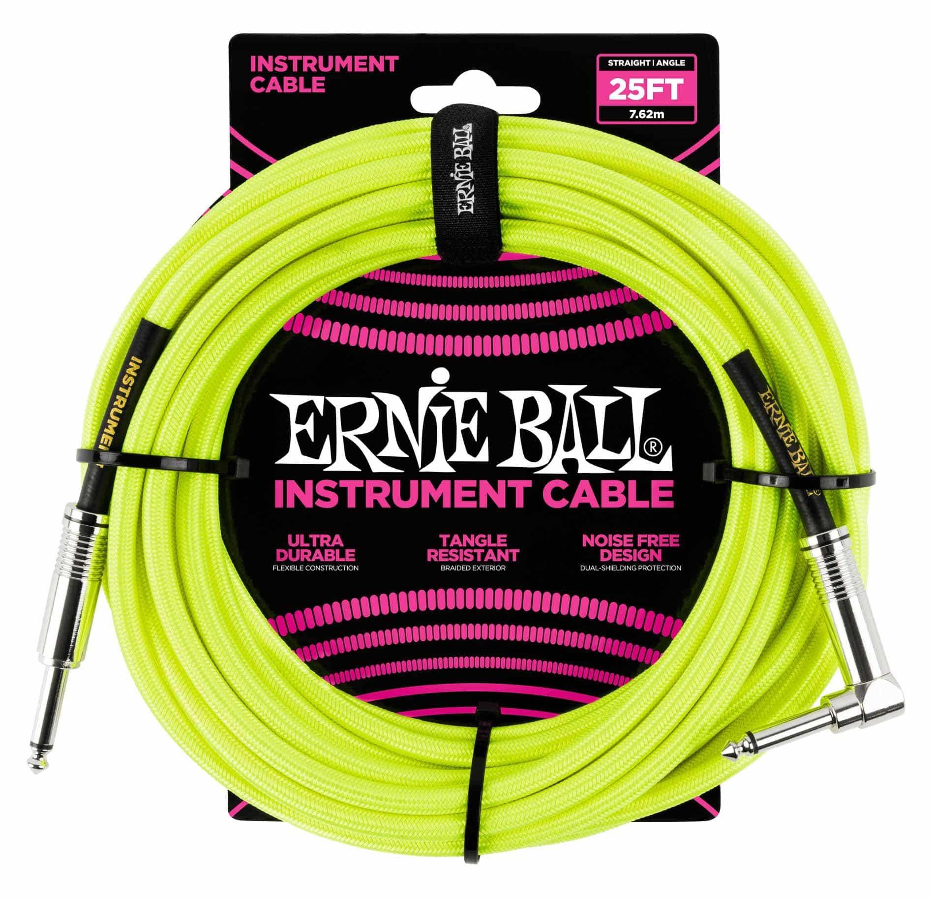 Ernie Ball 6057 Instrumentenkabel 7,62 m Neongelb