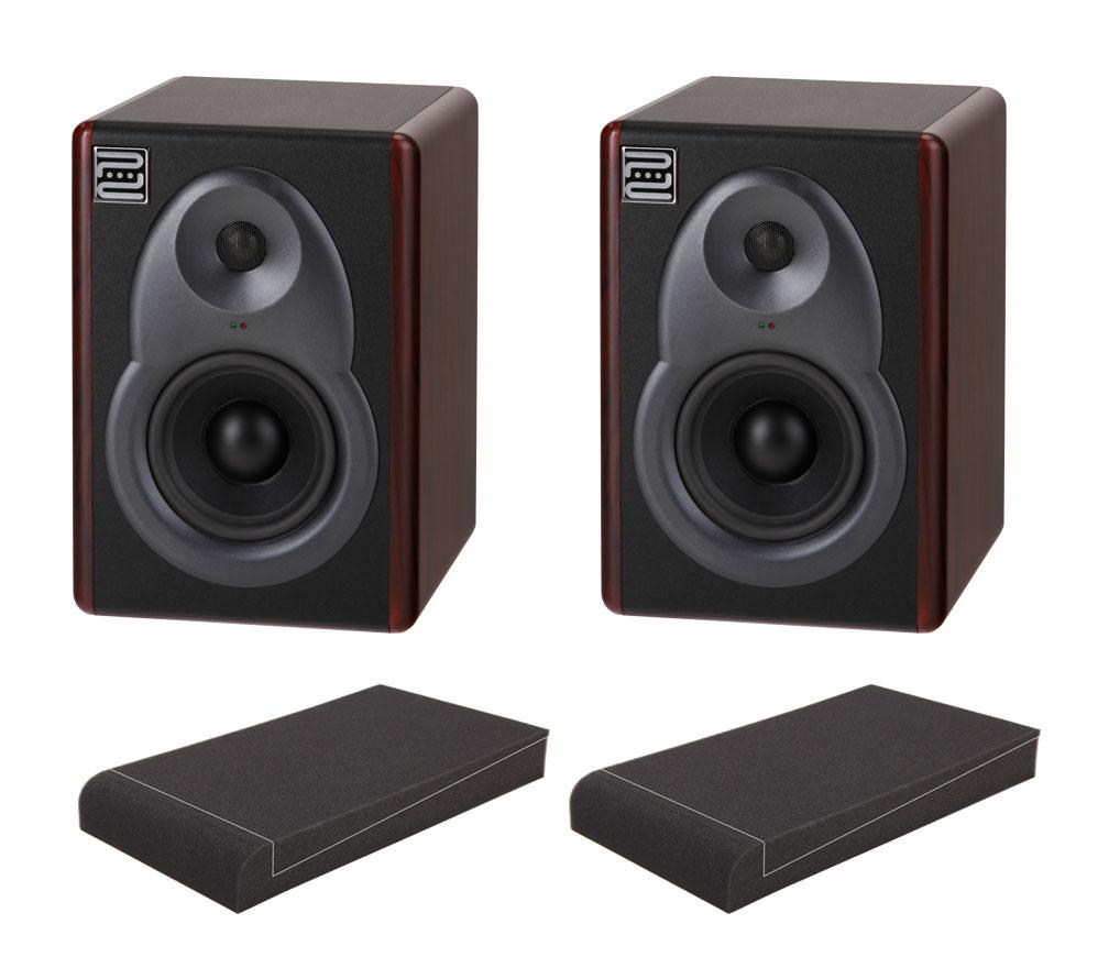Pronomic M5B Aktive Studio Monitore SET mit 5' Absorberplatten