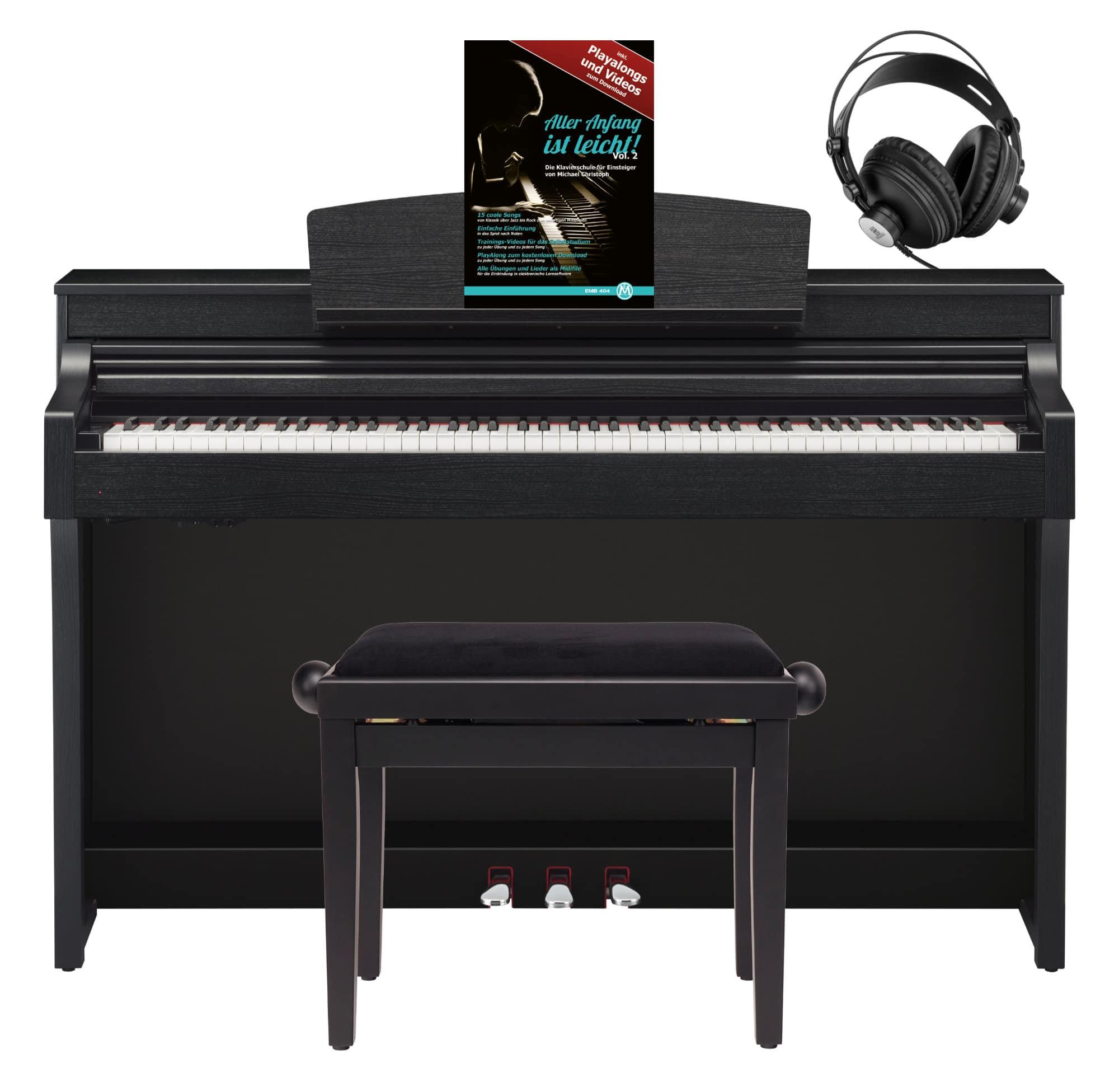 yamaha csp 150 b digitalpiano schwarz matt set mit. Black Bedroom Furniture Sets. Home Design Ideas