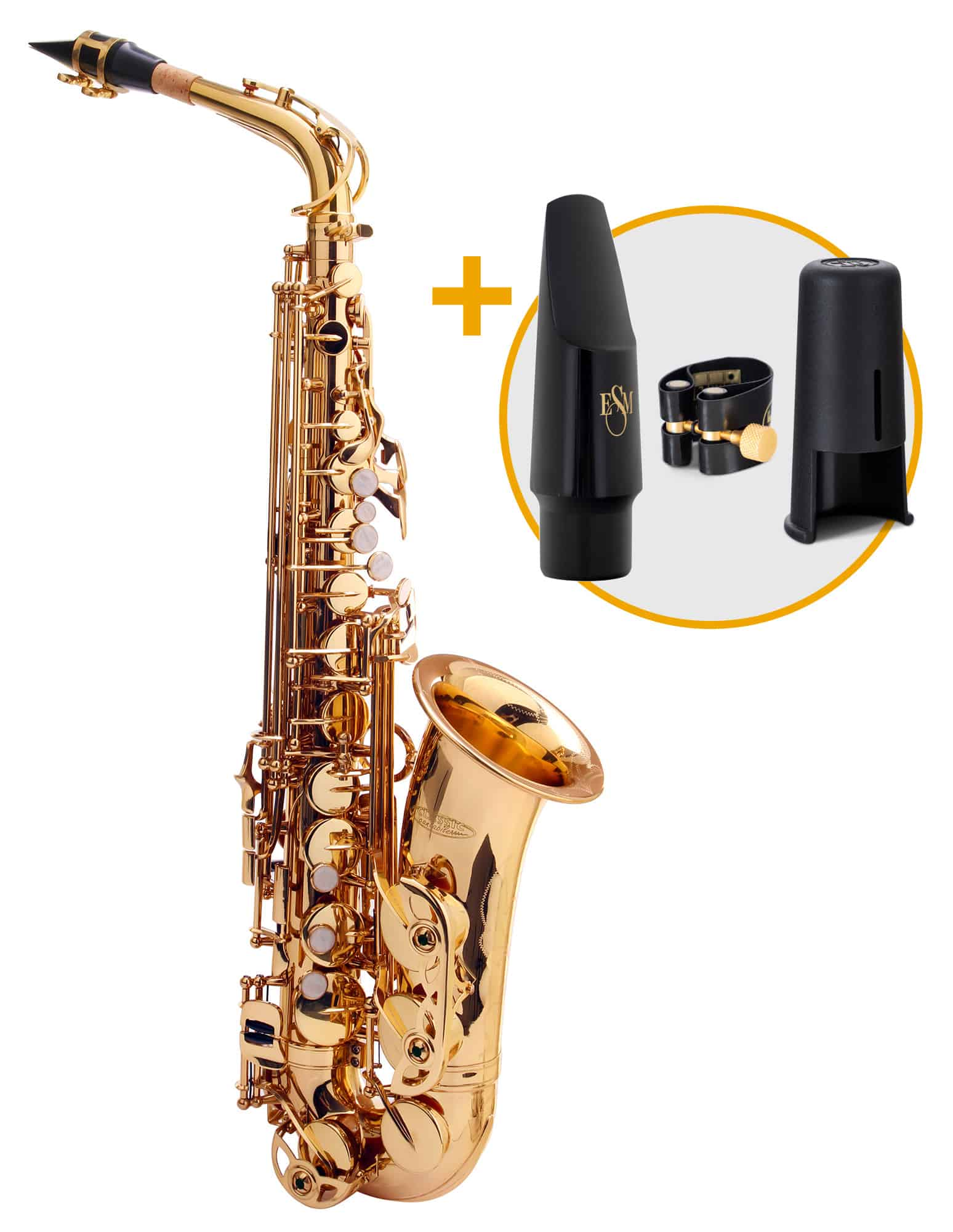 Saxophone - Classic Cantabile Winds AS 450 Es Altsaxophon ESM Set - Onlineshop Musikhaus Kirstein