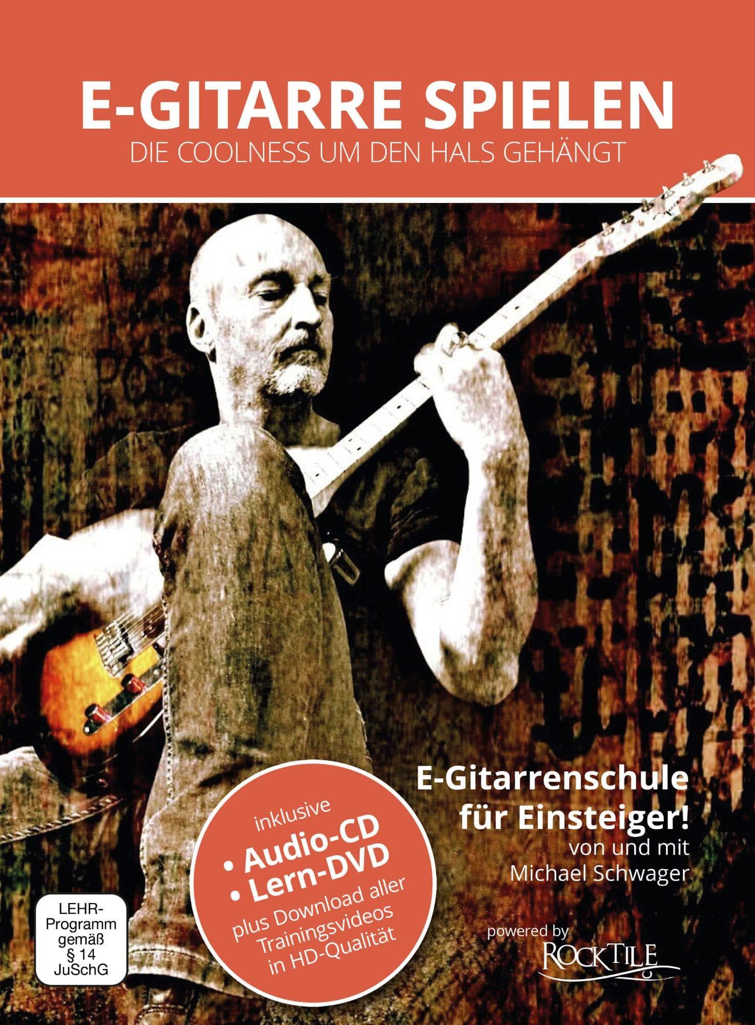 Gitarrelernen - Michael Schwager, E Gitarre spielen, E Gitarrenschule DVD und Playback CD - Onlineshop Musikhaus Kirstein