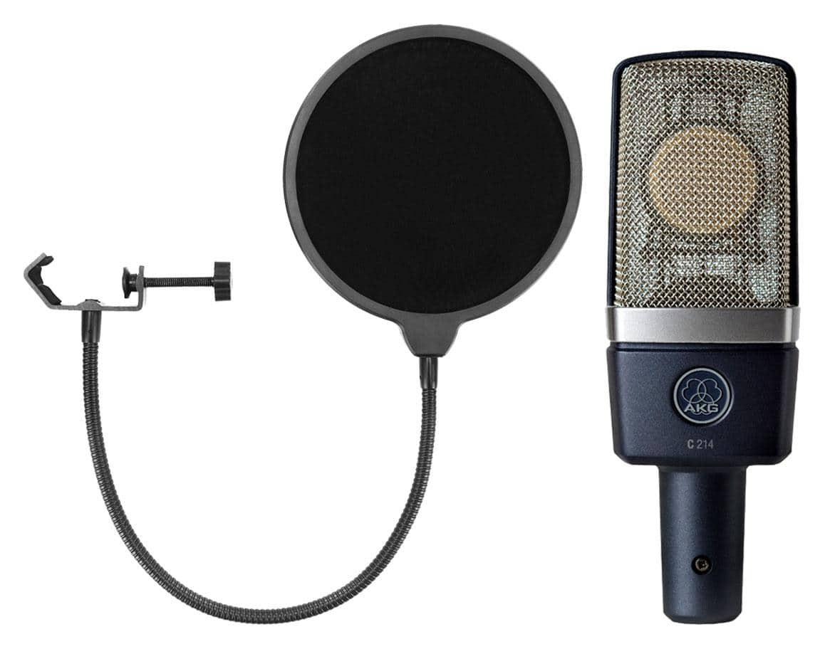 Mikrofone - AKG C 214 Set inkl. Popkiller - Onlineshop Musikhaus Kirstein