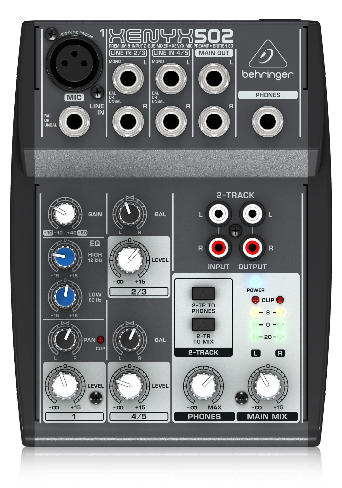 Mischpulte - Behringer Xenyx 502 5 Kanal Mixer - Onlineshop Musikhaus Kirstein
