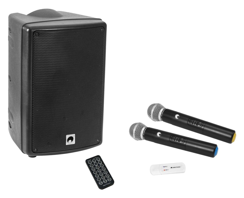 Boxenkomplettanlagen - Omnitronic WAMS 08BT MK2 Drahtloses PA System mit UWM 2HH USB Funkmikrofon Set - Onlineshop Musikhaus Kirstein