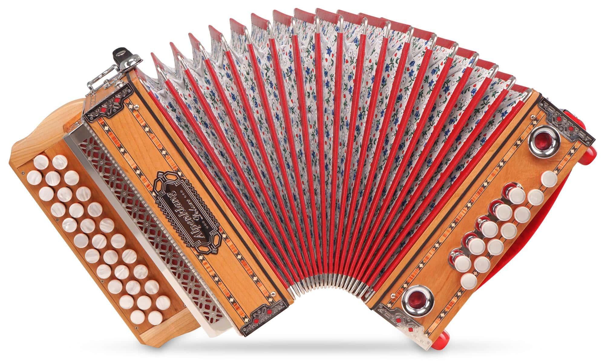 Alpenklang Harmonika 'Mini' Pro 3 reihig, G C F massiv