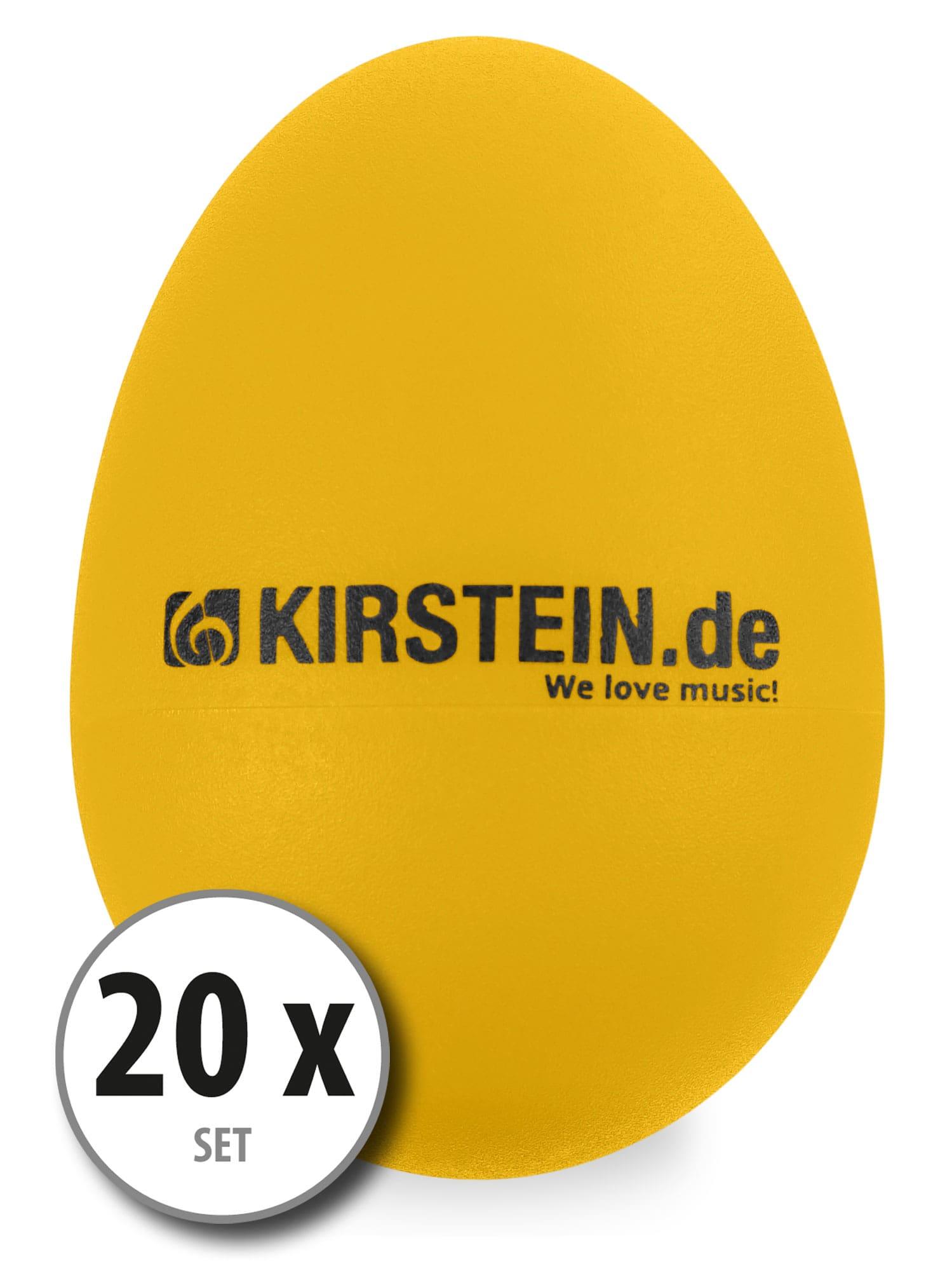20x Kirstein ES 10Y Egg Shaker gelb Heavy Set