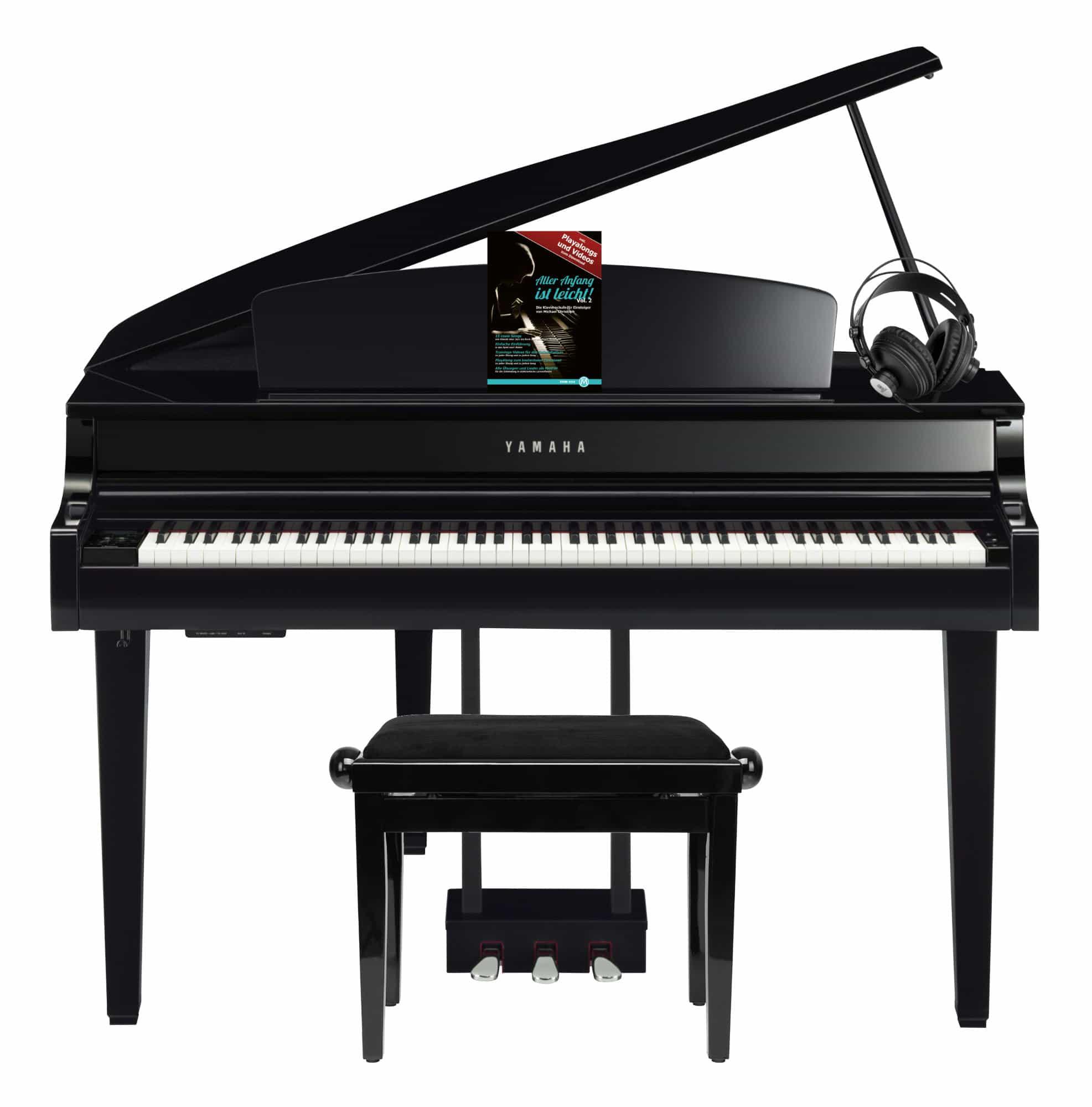 Digitalpianos - Yamaha CLP 765 GP Digitalflügel Set Schwarz Hochglanz - Onlineshop Musikhaus Kirstein