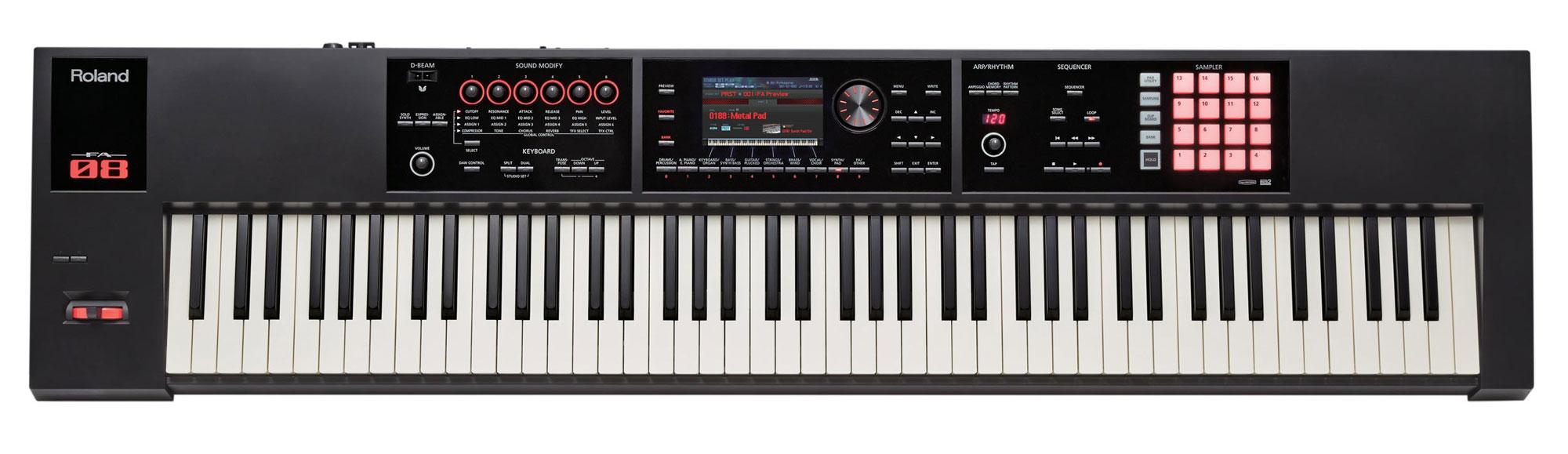 Synthesizer - Roland FA 08 Synthesizer Workstation 88 Tasten Ivory Feel - Onlineshop Musikhaus Kirstein
