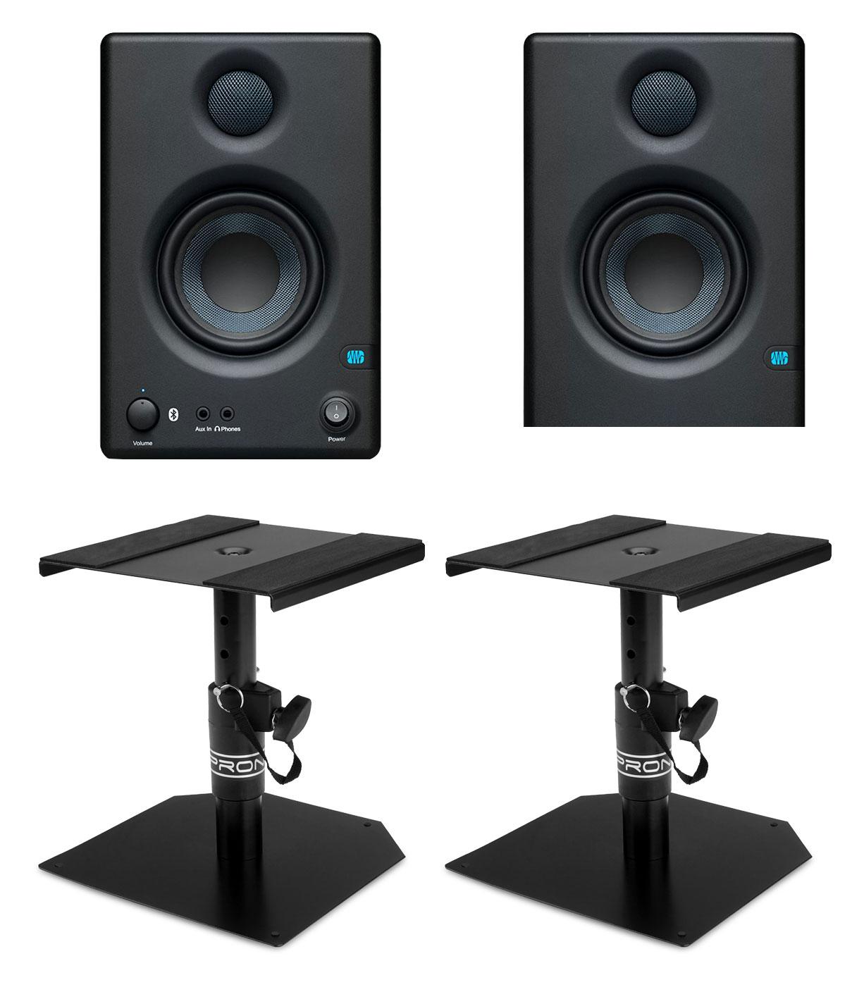 Studiomonitore - PreSonus Eris E3.5 BT Aktives Studiomonitor Set inkl. Boxenstativen - Onlineshop Musikhaus Kirstein