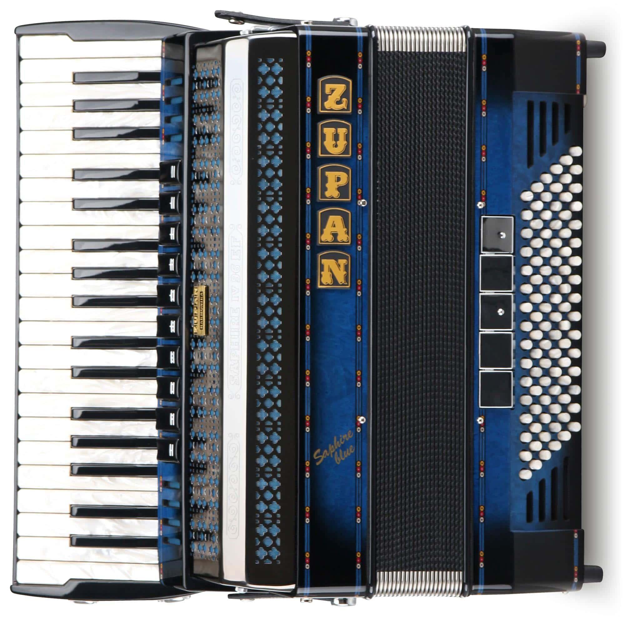 Akkordeons - Zupan Saphire IV 96 EF|MHR Akkordeon Shadow Blue - Onlineshop Musikhaus Kirstein