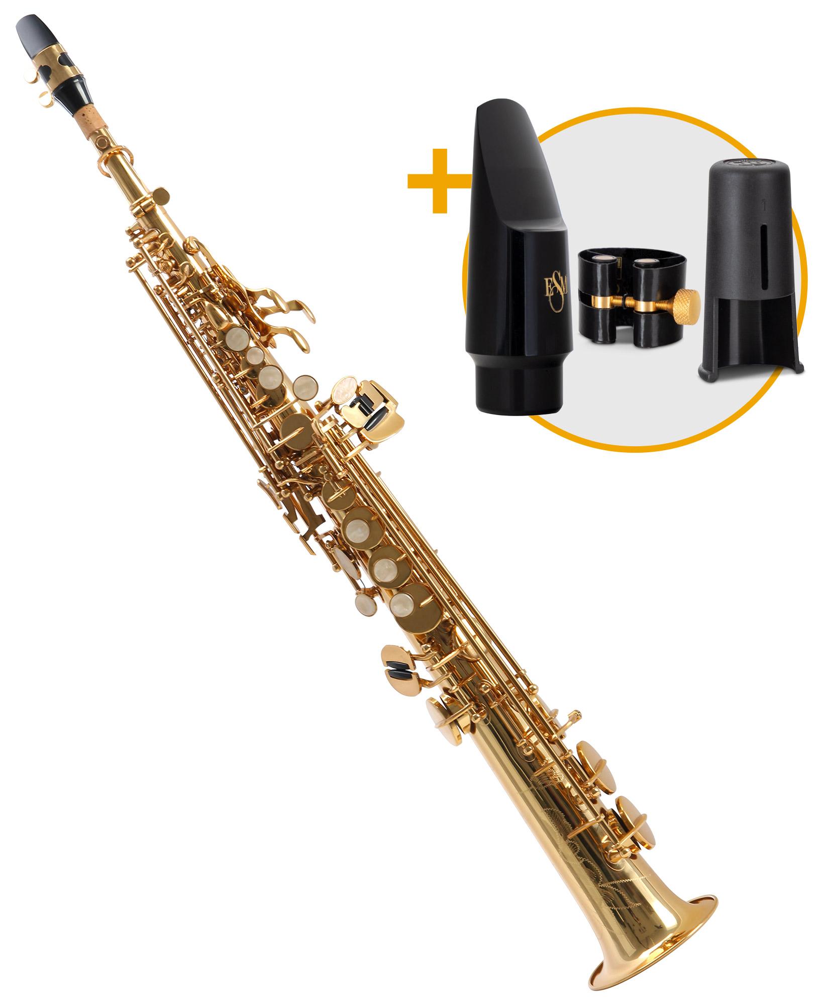 Saxophone - Classic Cantabile Winds SS 450 Sopransaxophon ESM Set - Onlineshop Musikhaus Kirstein