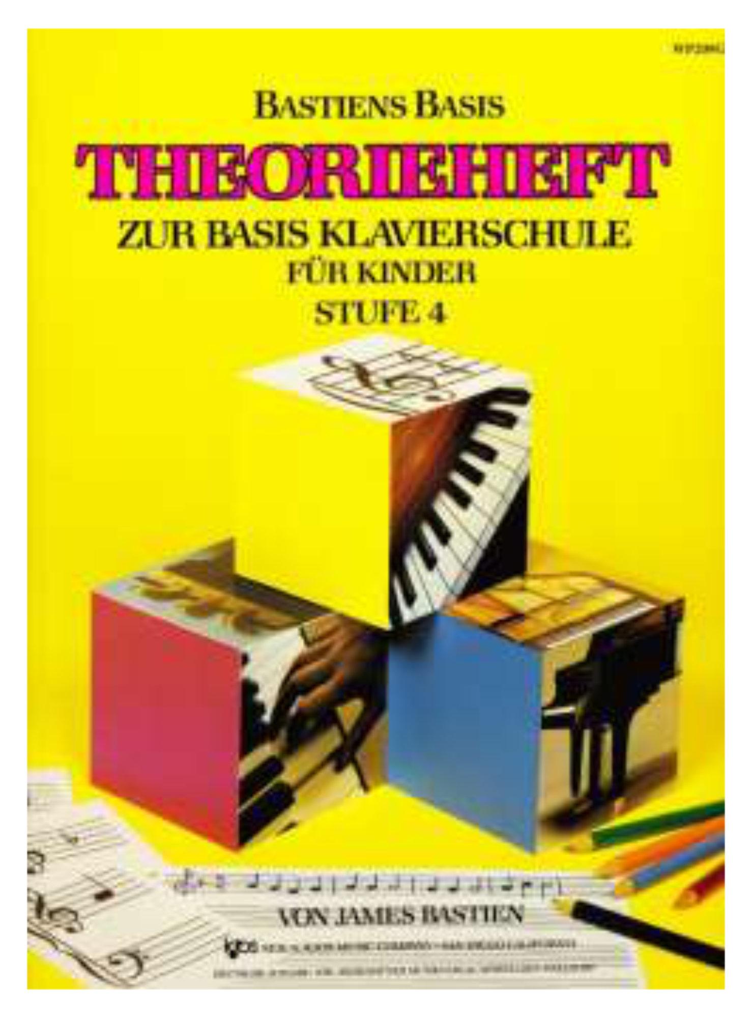 Klavierlernen - Bastien Piano Basics Klavierschule Theorie Stufe 4 - Onlineshop Musikhaus Kirstein